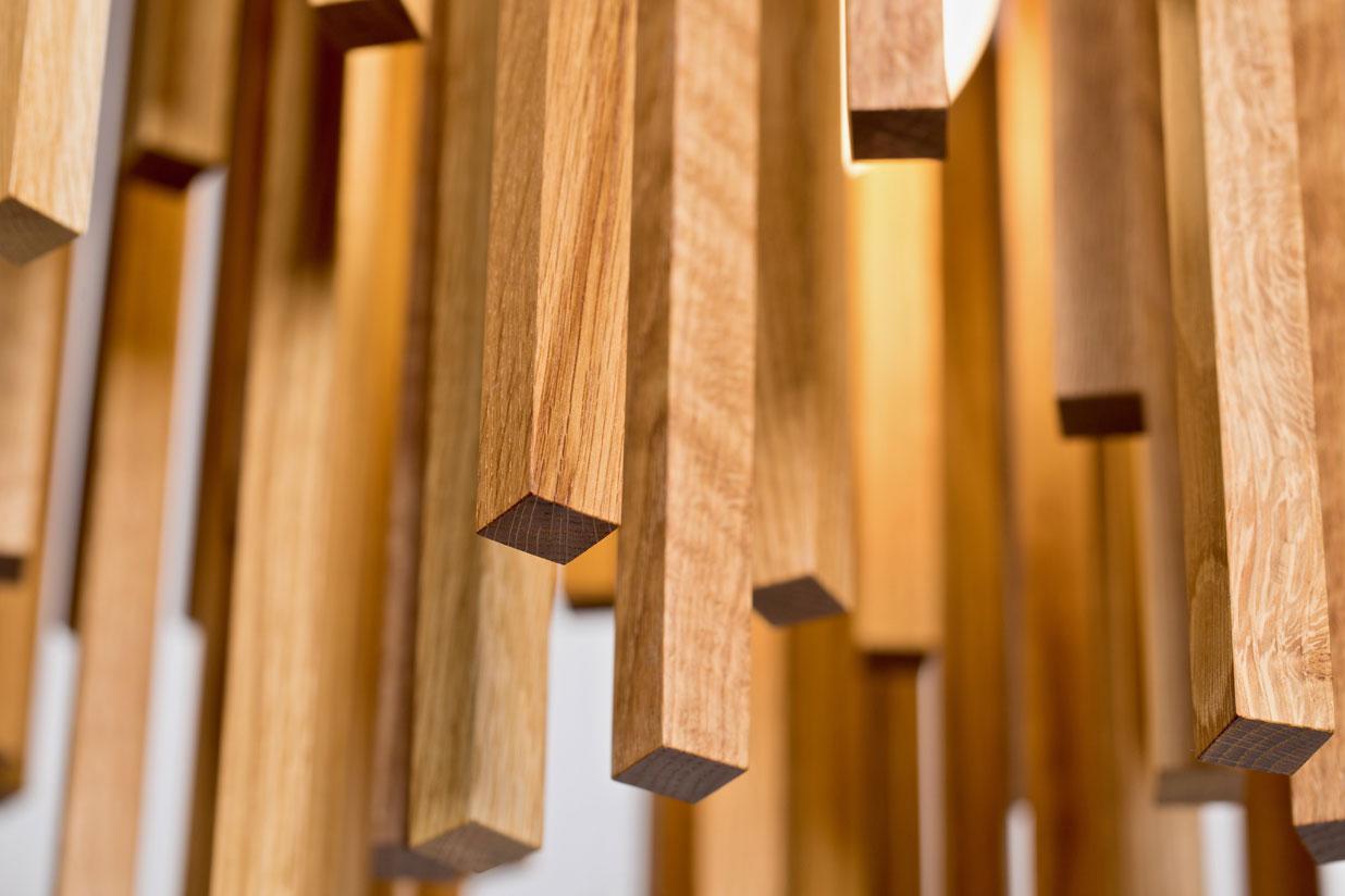 Orée Linear 36 Light (detail) - white oak hardwood