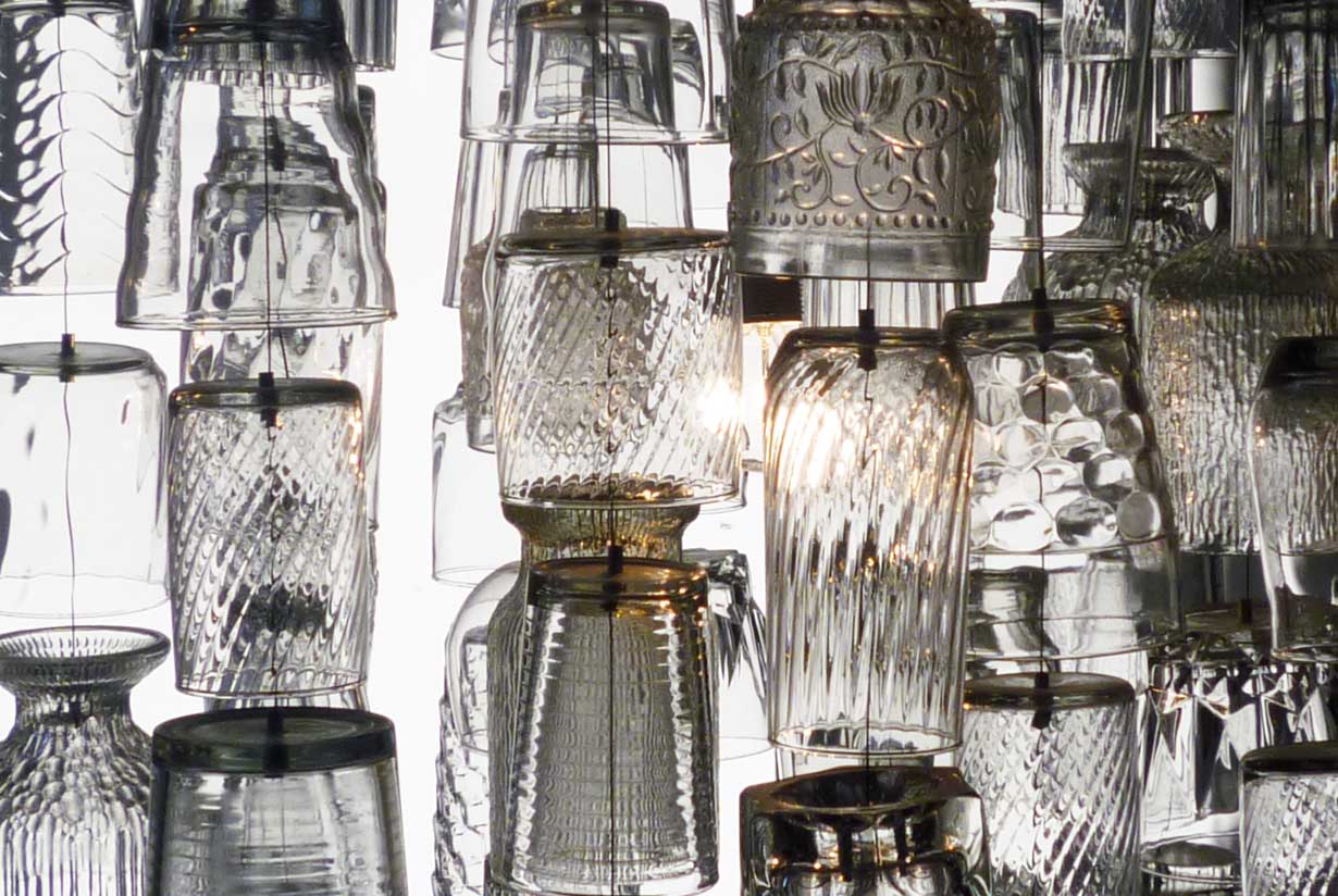 Dram glasses - clear and textured