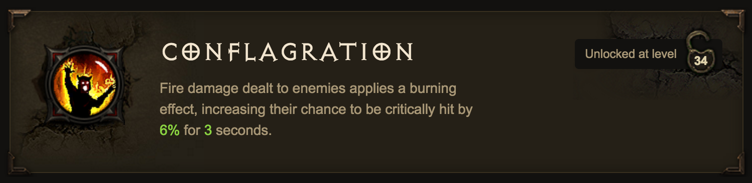 """A """"conflagration"""" is a large fire."""