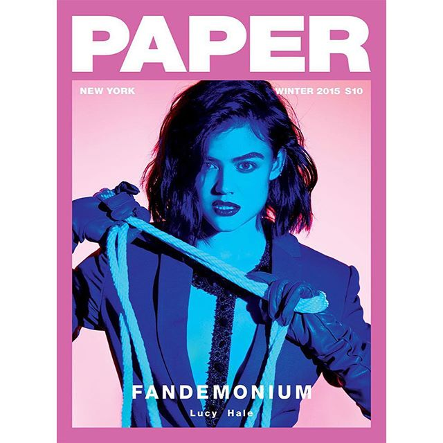 @lucyhale in Azeeza for @papermagazine by @kpbreen