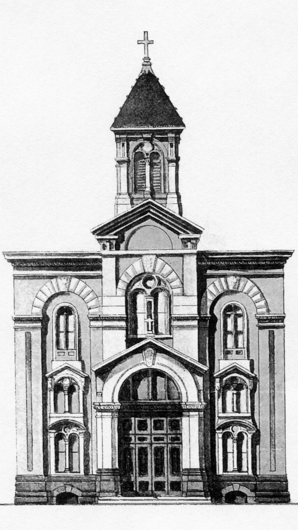 Drawing of Our Lady of Good Counsel Church,South Philadelphia