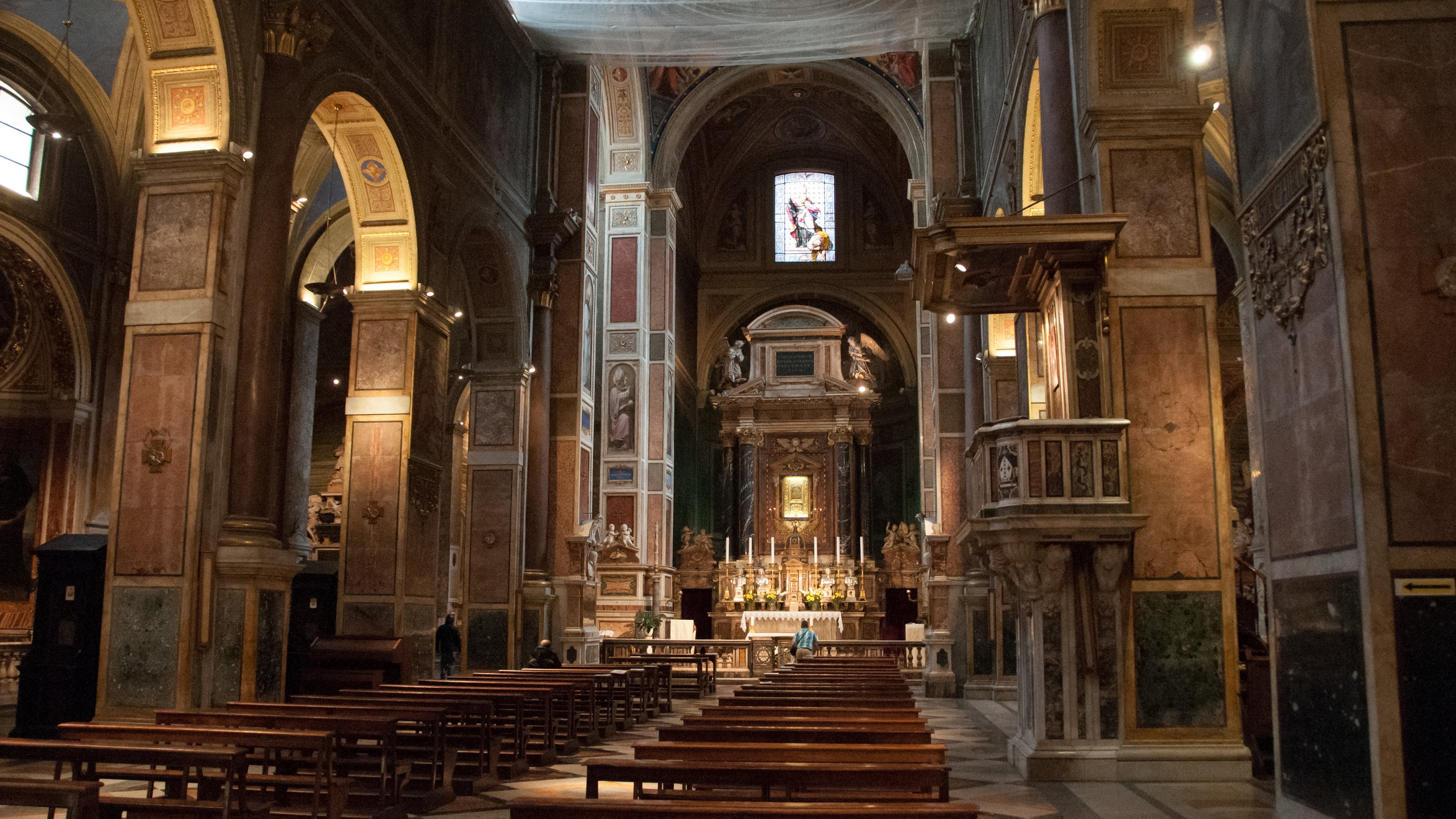 Main Altar at the Basilica of Saint Augustine, Rome. Photo by Kevin Salemme