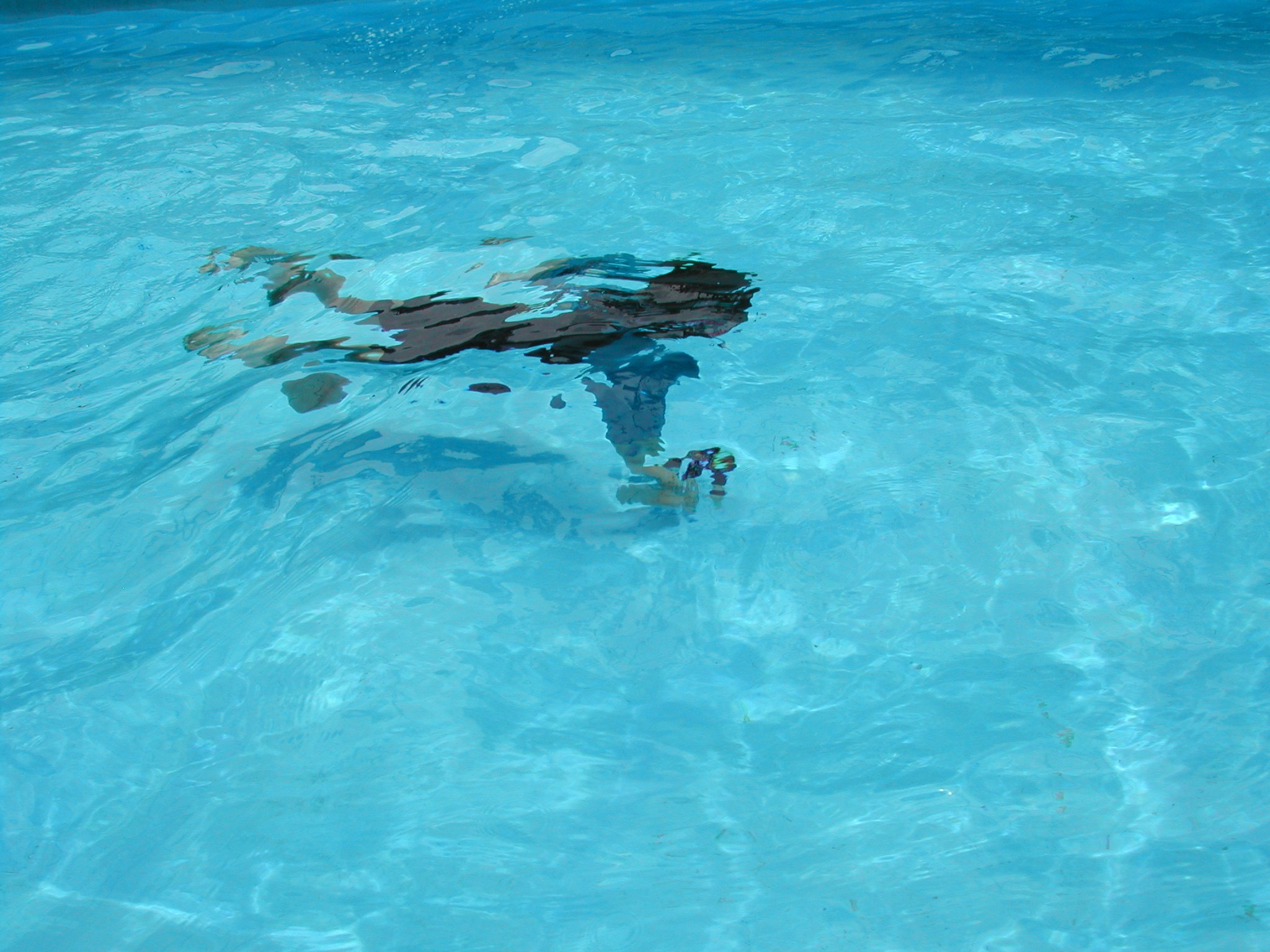 If I can swim underwater, I can breathe. I reckon.