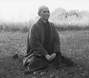 Monk Nhat Hahn Dekar meditating on death.