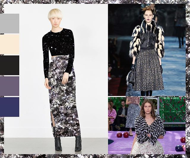 Trend / Holidaze ❄️✨🔮 No Ocean Sprinkle Snow & Silver Sparkle (left)  #nooceanco #surfacedesign #pattern #surfacepattern #textiledesign