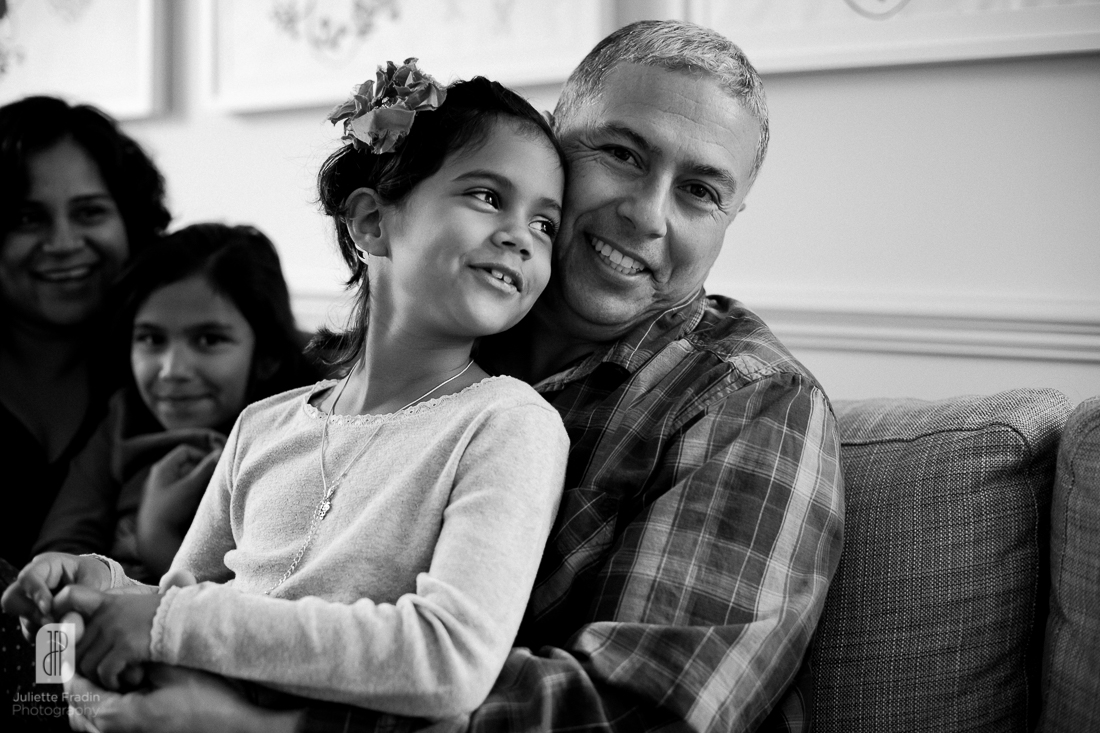 Juliette Fradin Photography ~ father-daughter lifestyle indoor Alexandria, VA