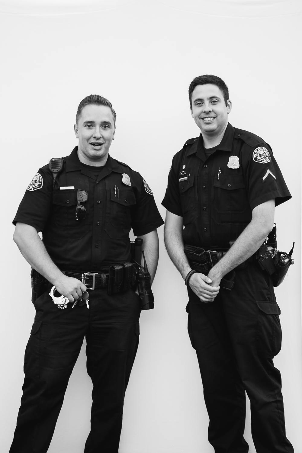 """We like the kind police officers"" Officer Cardoso and Officer Filuta"