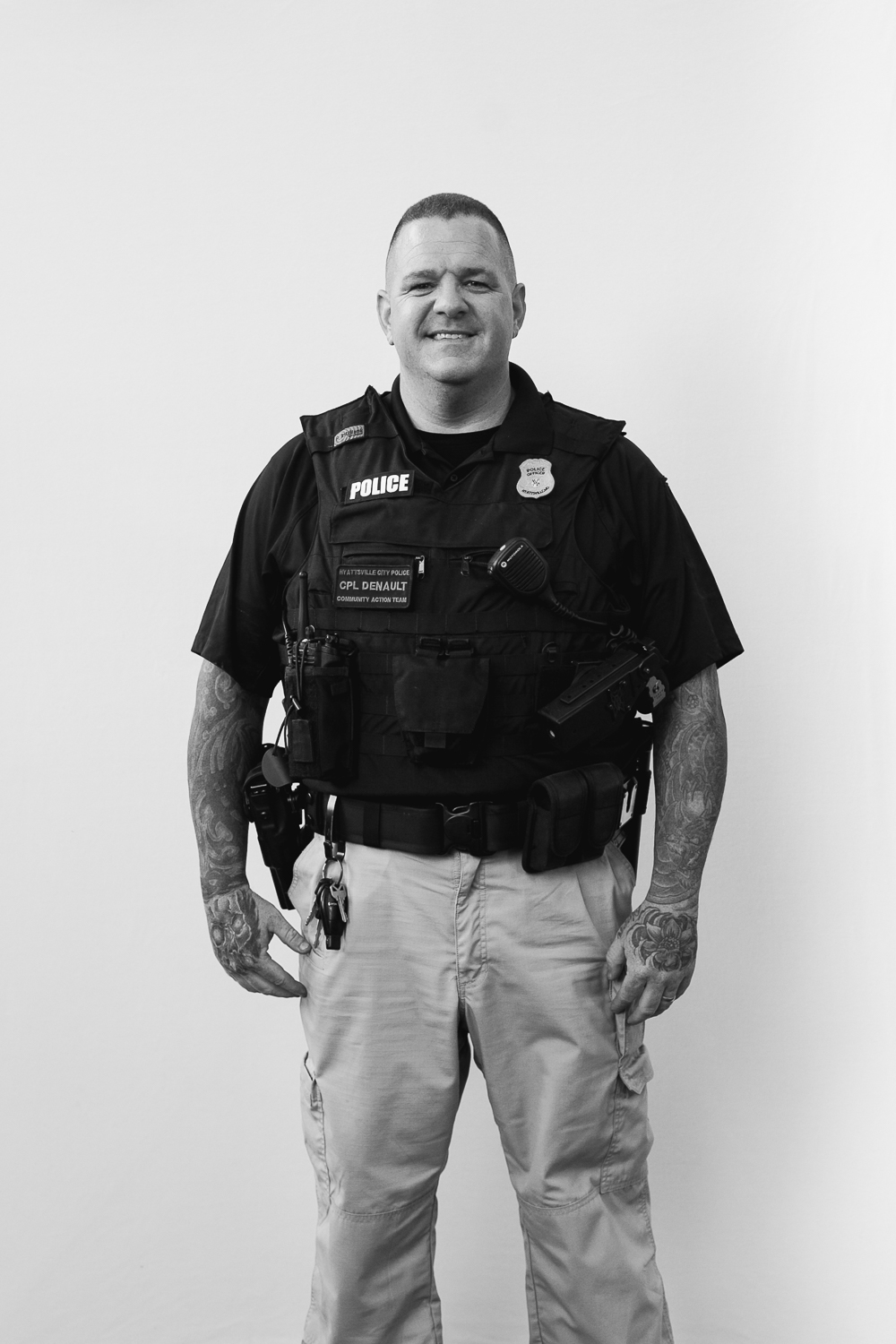 """I like the residents, the small-town feel with big cities amenities"" Officer James Denault"