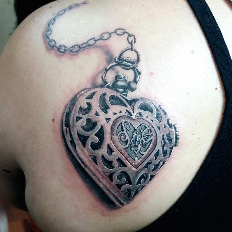 heart locker with initials