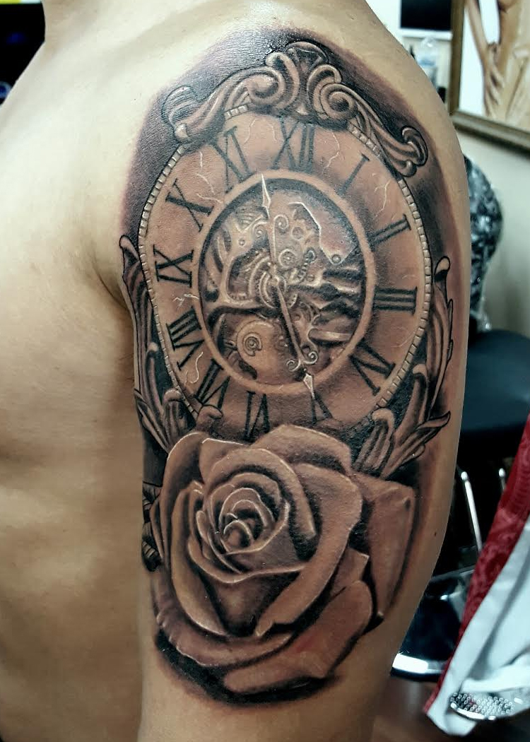 Rose and Clock