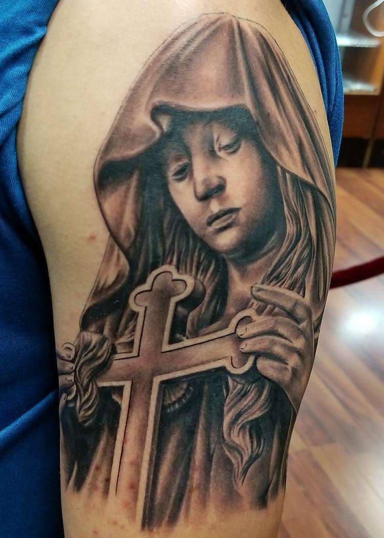 Virgin Mary cross