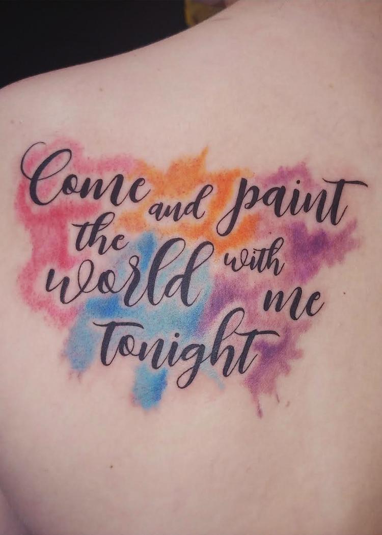 lettering watercolors