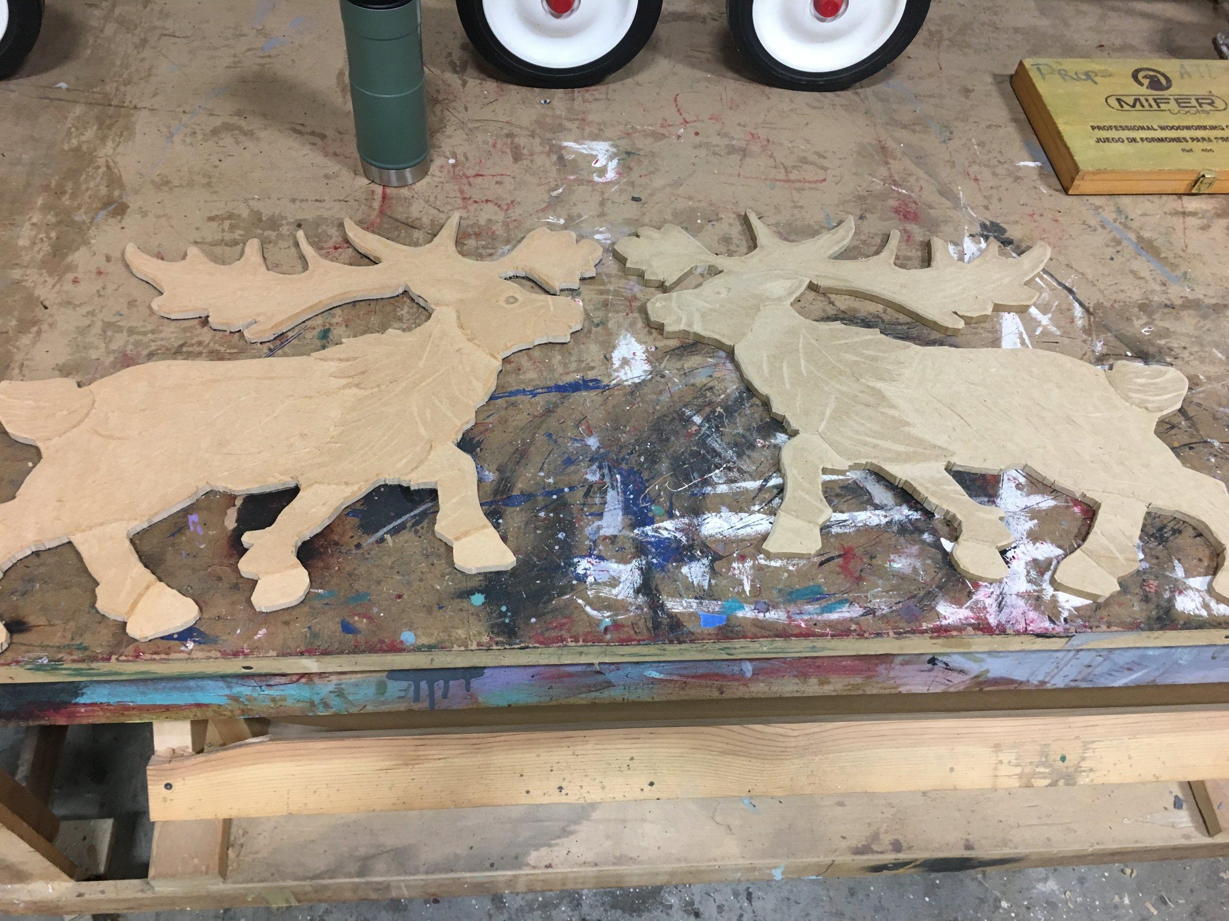 Carved Elk