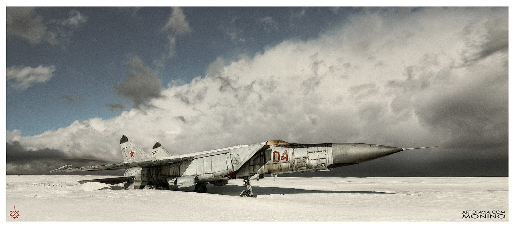 Mikoyan-Gurevich-MiG-25PD-Art-of-Avia-Central-Air-Force-Museum-Monino-by-Kent-Miklenda-800pxh-21-9-IL-CT-A-BW.jpg