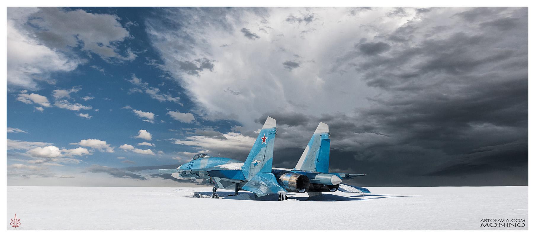 Sukhoi-Su-27M-Su-35-T-10M-Art-of-Avia-Central-Air-Force-Museum-Monino-by-Kent-Miklenda-CR1-800pxh-21-9-IL-A-BW.jpg
