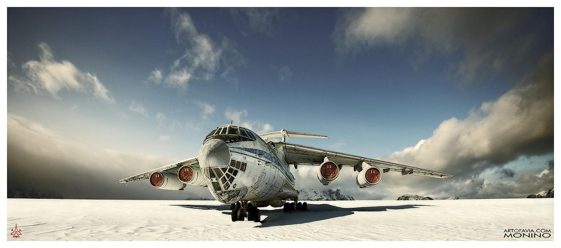Ilyushin-Il-76-Art-of-Avia-Central-Air-Force-Museum-Monino-by-Kent-Miklenda-800pxh-21-9-IL-CT-A-BW.jpg
