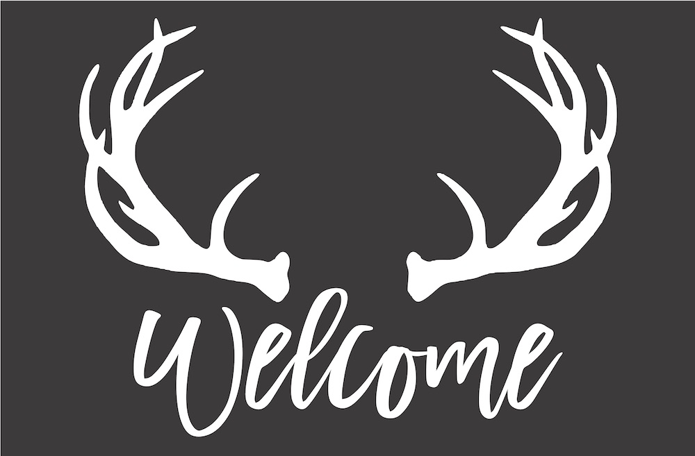 23x35 antlers welcome.jpg