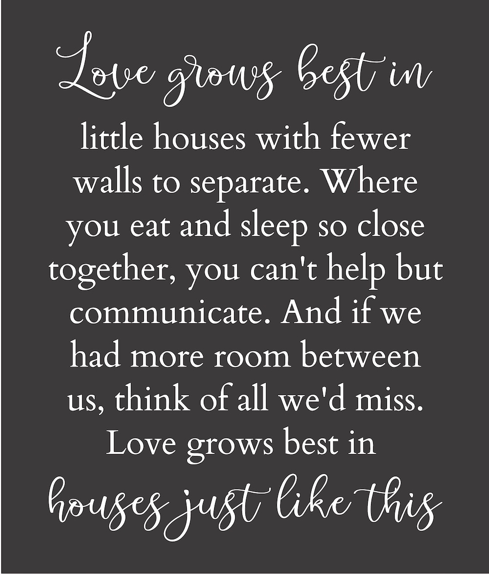 "22""x38"" or 28""x36 Love Grows best in..."