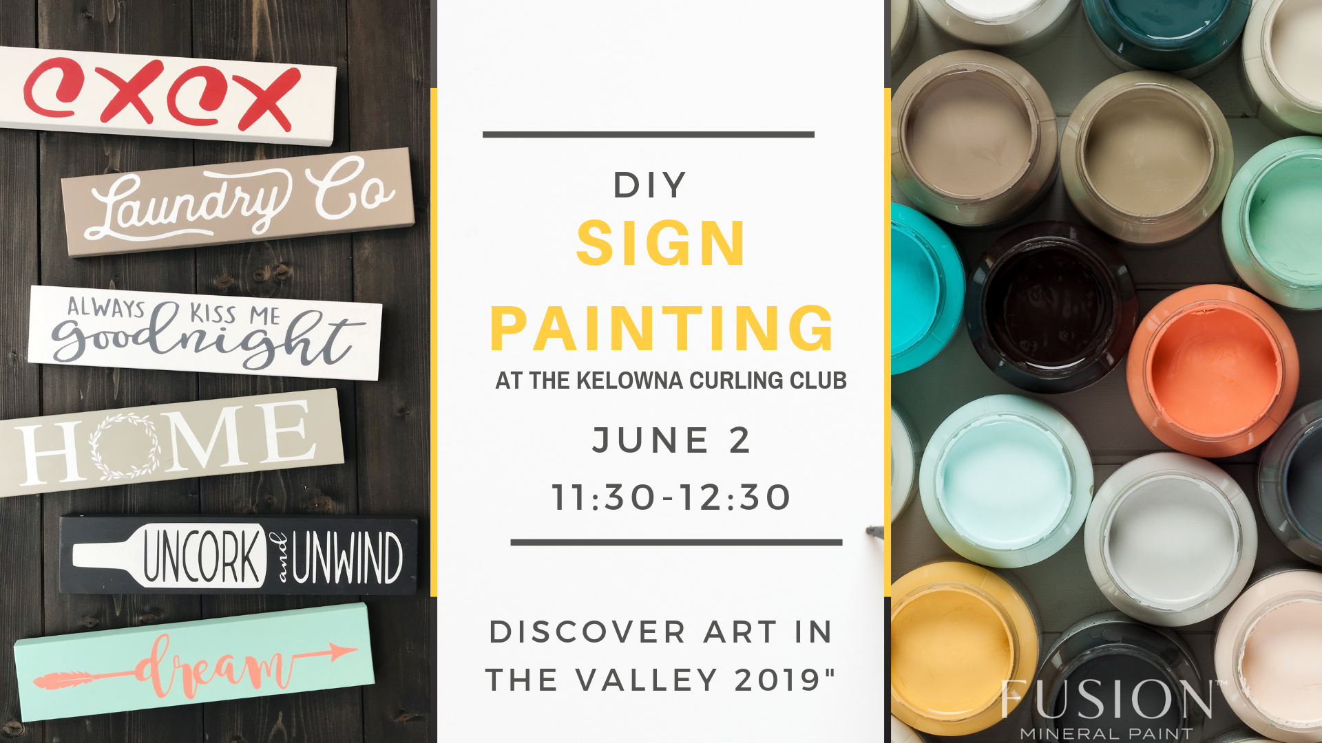 discover art in the valley 2019 sign painting