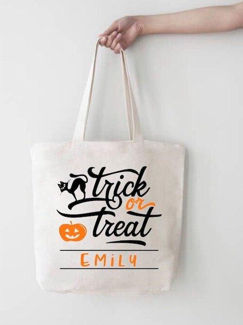 Halloween tote bags with names kelowna