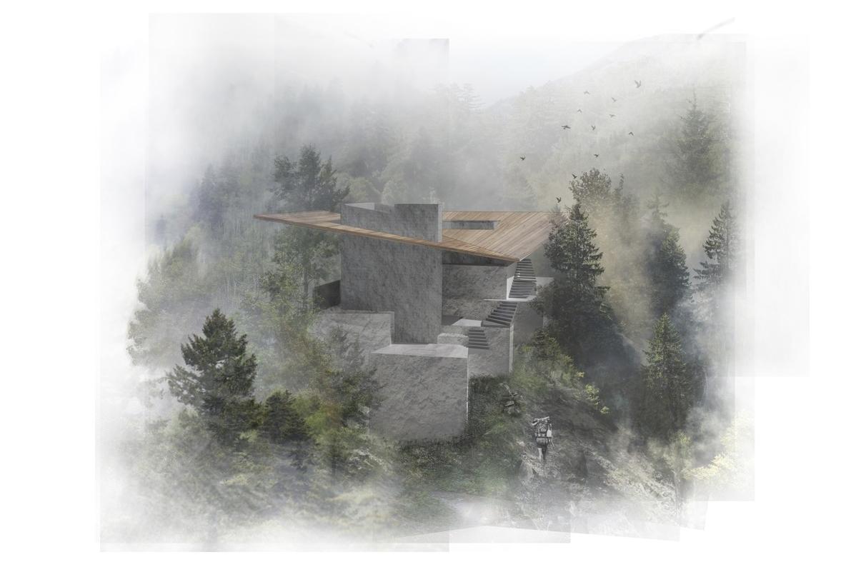 Mountainside Landscape Render