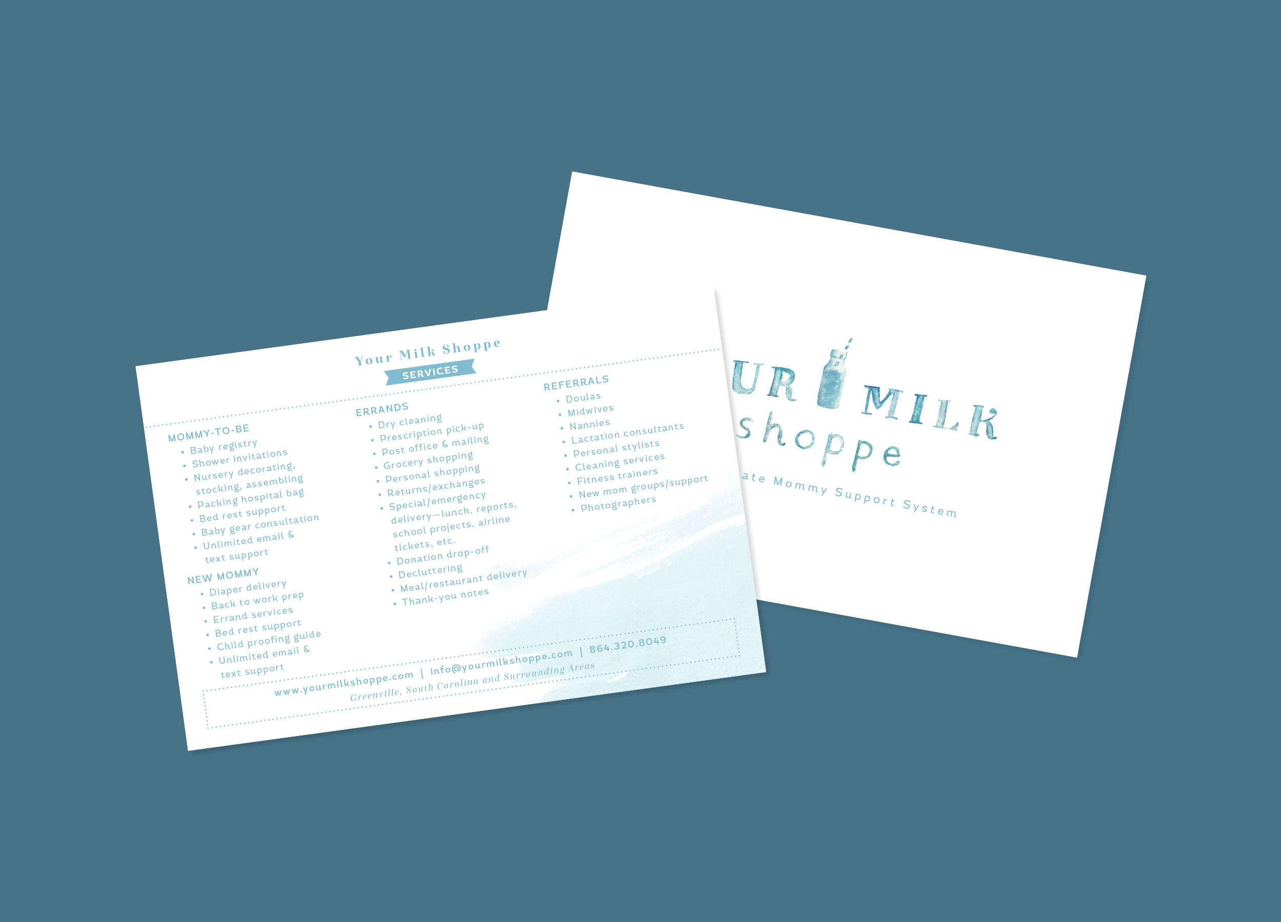 RECENT WORK: YOUR MILK SHOPPE, BRANDING, LOGO, BUSINESS CARDS