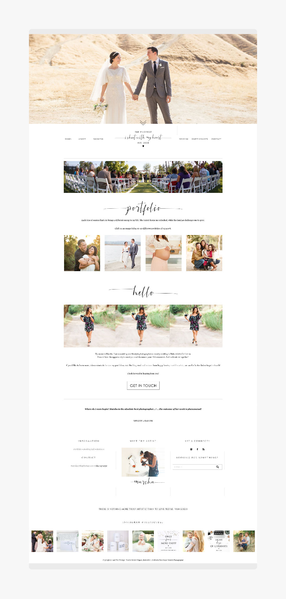 Before + After: The Photege Website
