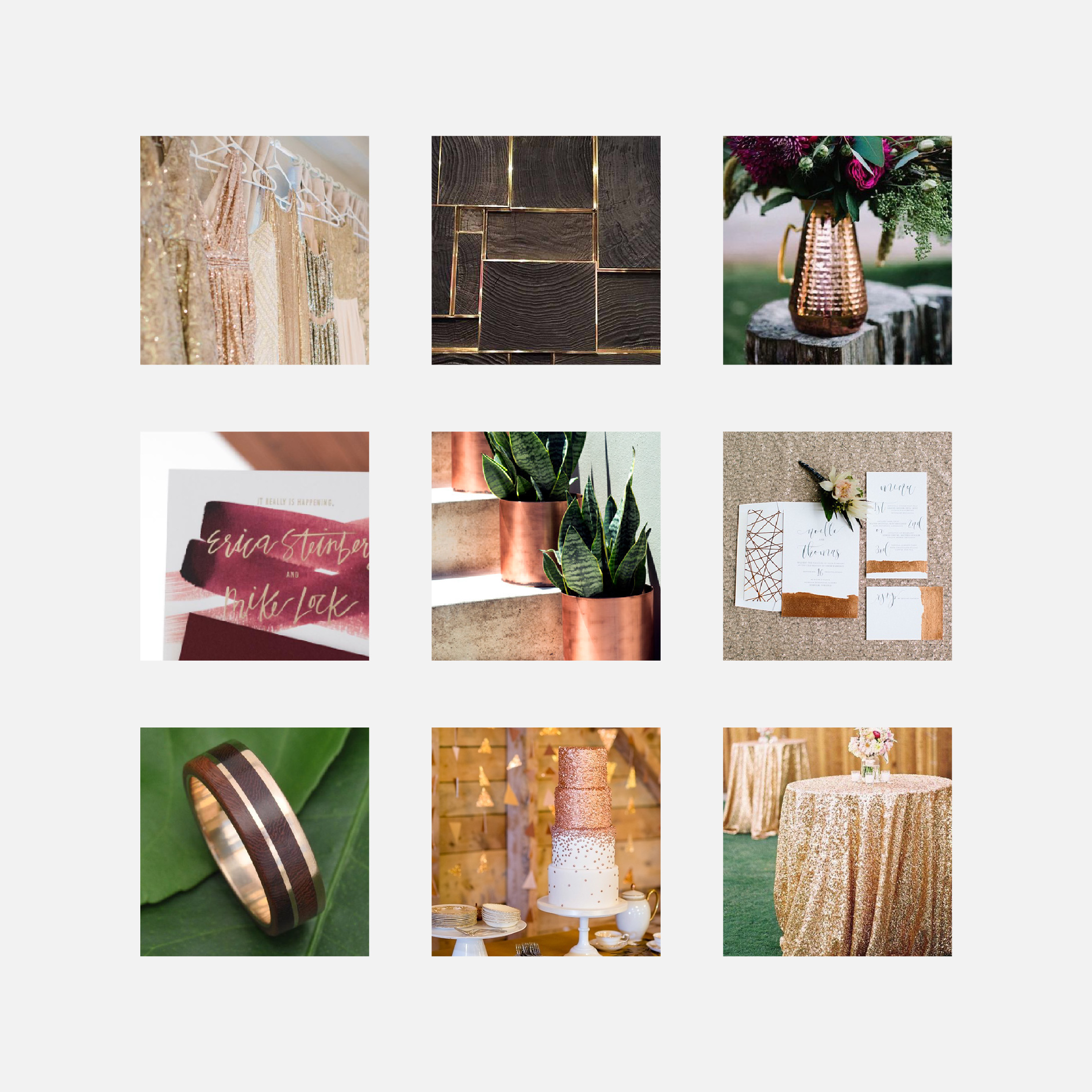 Mood Board: Organic Glitz | Letterform Creative