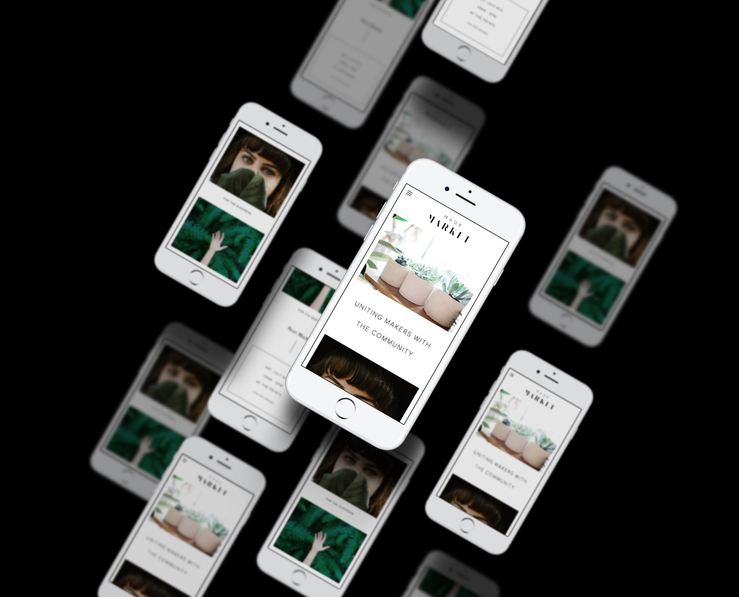 Made Market Mobile Website / Letterform Creative