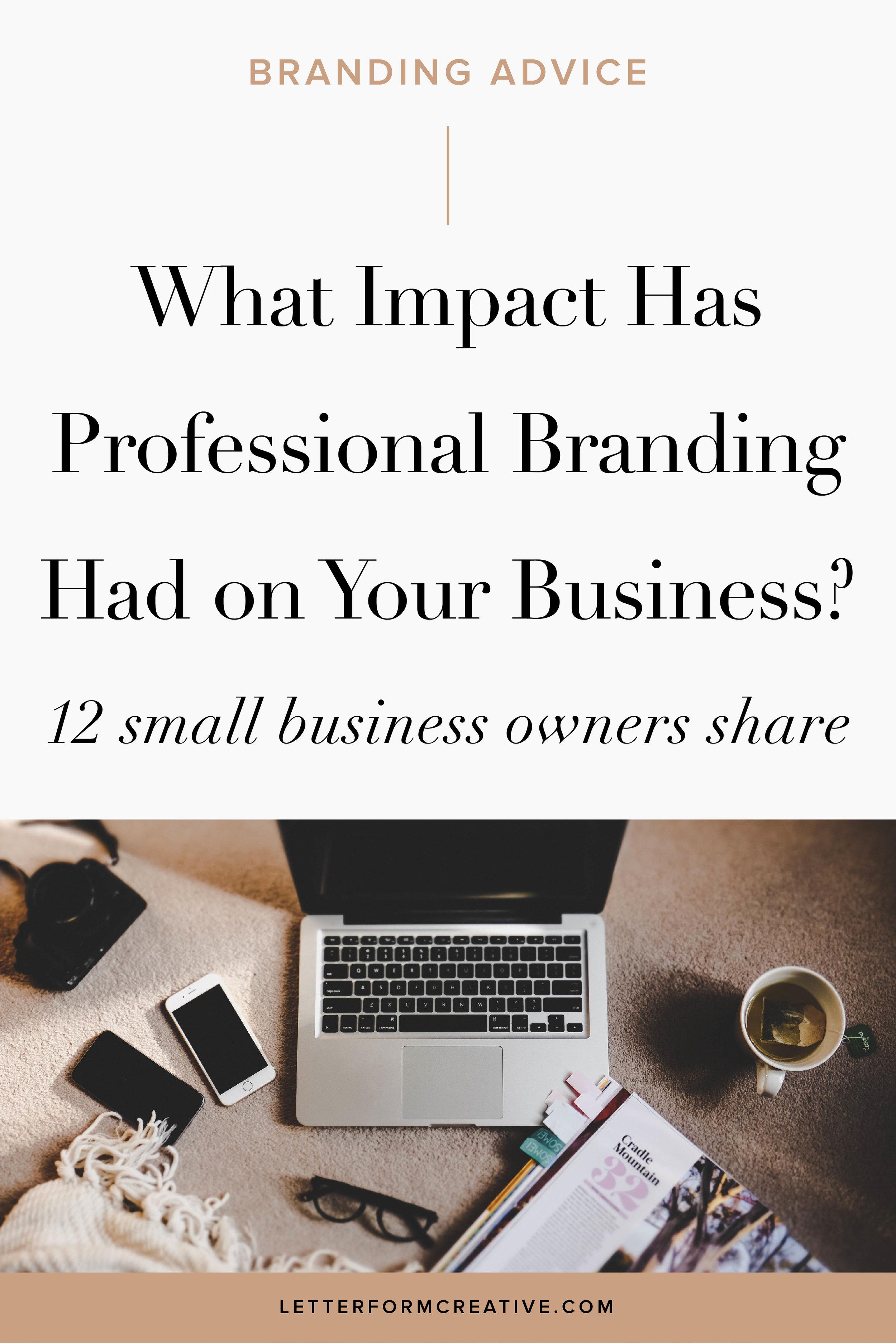 Are you still doing your own branding for your small business? Here is the incentive you need to hire a professional designer to design your brand identity. This blog interview with 12 small business owners provides the inspiration and motivation you need to invest in professional branding. The consensus is that it's the best business investment many have made. It will move your business forward, give you confidence, and change your mindset.Click through for more ideas and insights on how professional branding can take your business to the next level!