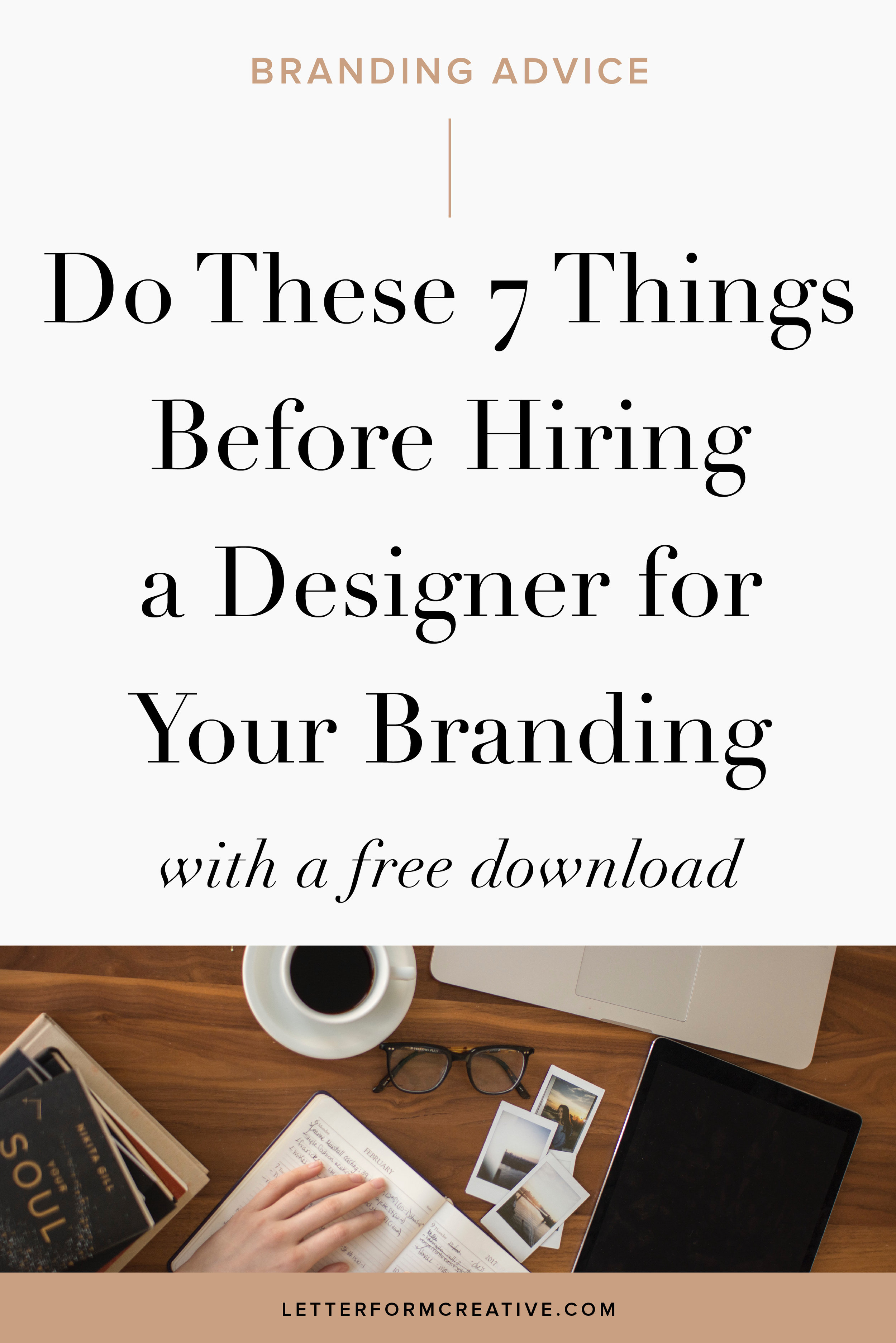 If you're considering taking the leap from doing your branding yourself to hiring a professional designer for your brand identity, you must read this blog post! IT is full of inspiration and ideas to help prepare you for working with a creative designer for your branding and website. Hiring a professional designer doesn't just mean you're logo will look great, it will truly benefit your entire business and give you the personal confidence you need!