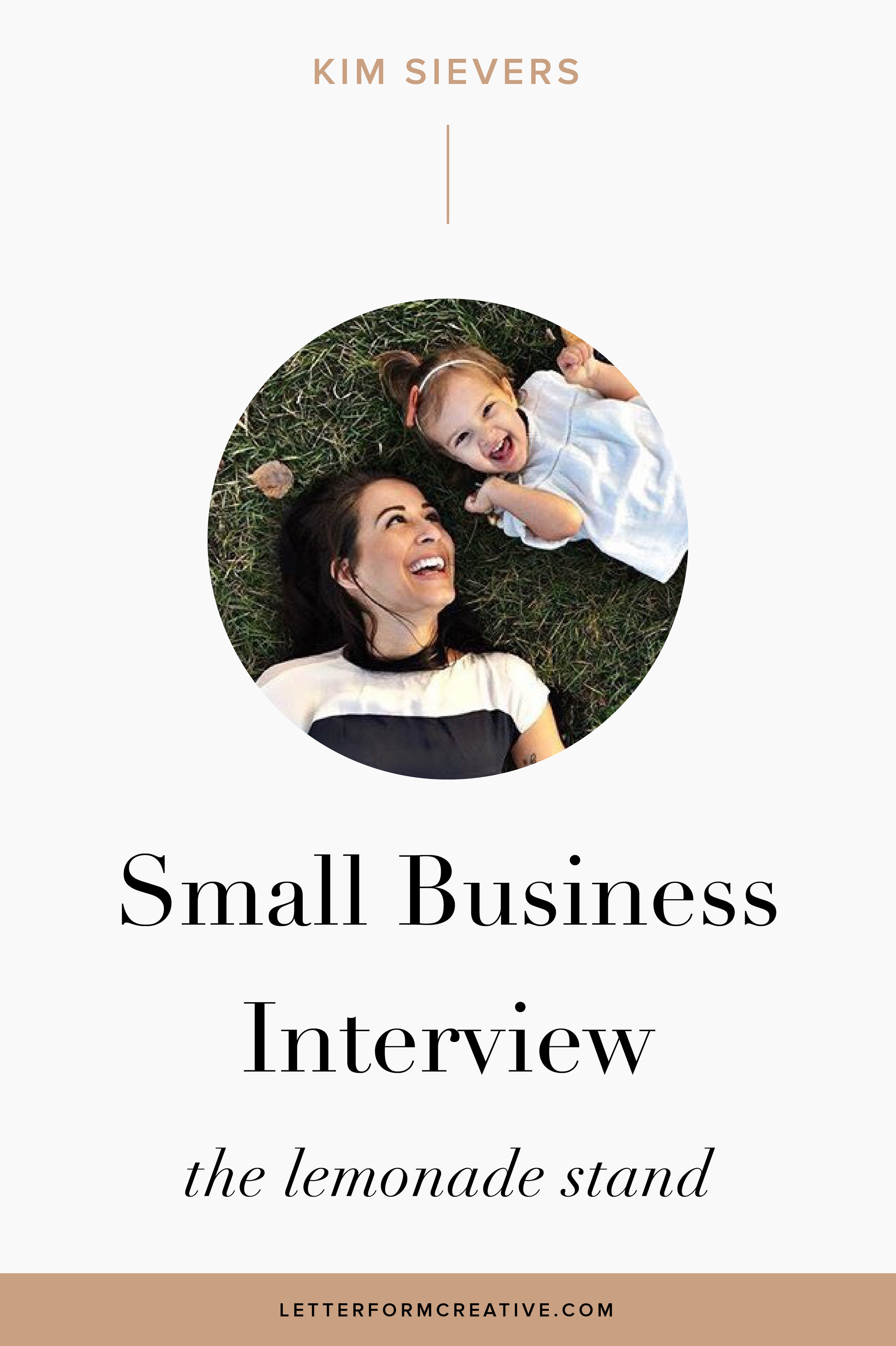 """It's hard to keep motivated sometimes...but every kind word from customers or cute photo shared in my gear makes it easier."" This is one of many great quotes from my small business interview with Kim Sievers, owner The Lemonade Stand  In our interview Kim opens up about the some of the harder aspects of owning an online shop, like coming to terms with all of the competition out there and seeing them succeed on social media. SHe also talks about the perks of being an entrepreneur, such as the flexibility it affords her. Her advice to anyone wanting to start their own business is do your research! Click through for more great start up and business planing tips,  ideas, and Inspiration!"