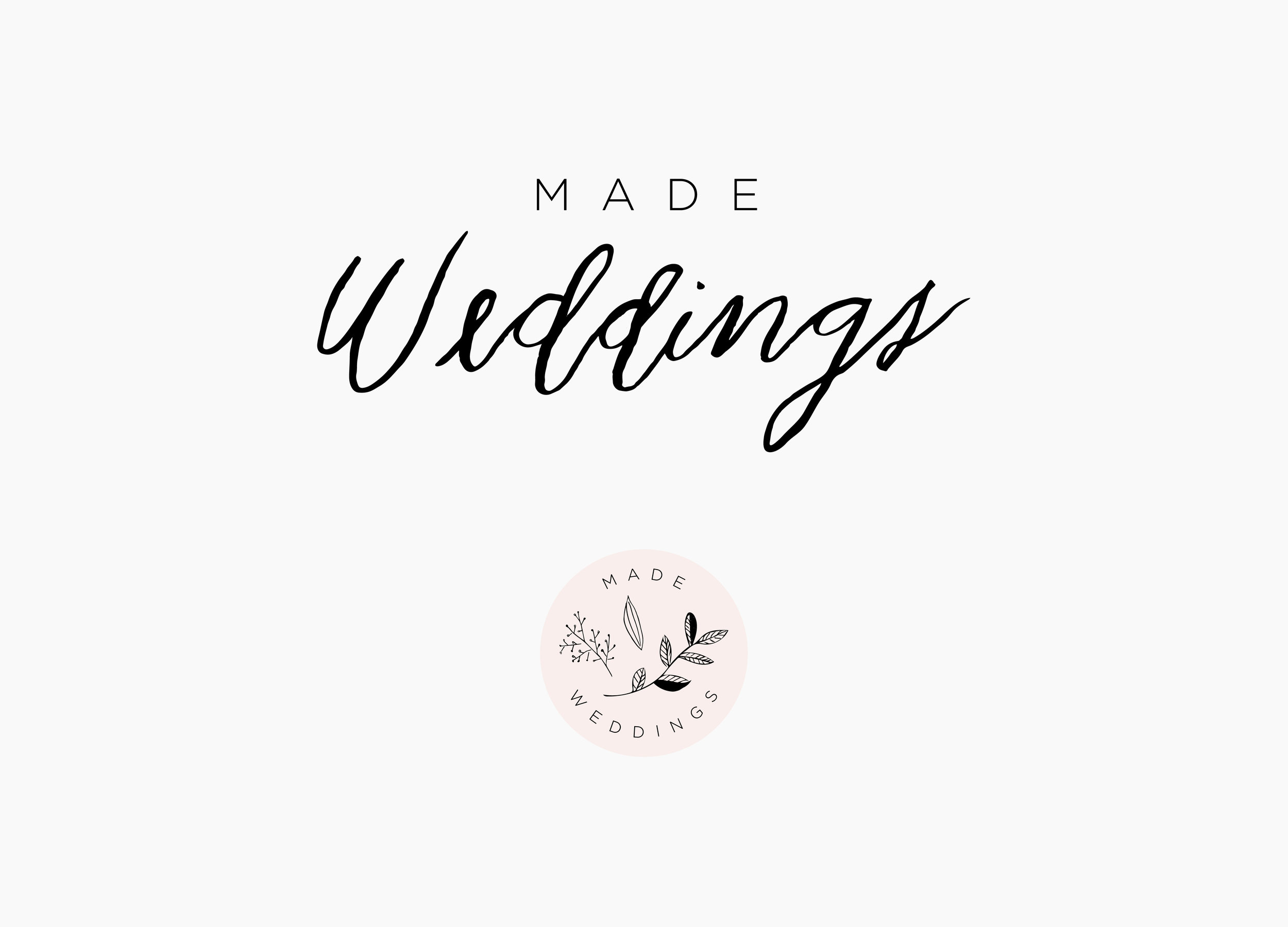 Made Weddings | Letterform Creative