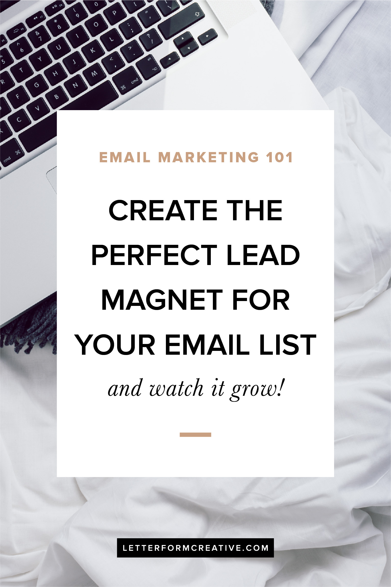 All small business owners need an email list! Not sure how to grow yours? You need a lead magnet! Find out what a lead magnet is, why you need one, and how to create it. With the perfect freebie offer you'll have subscribers on your list in no time!