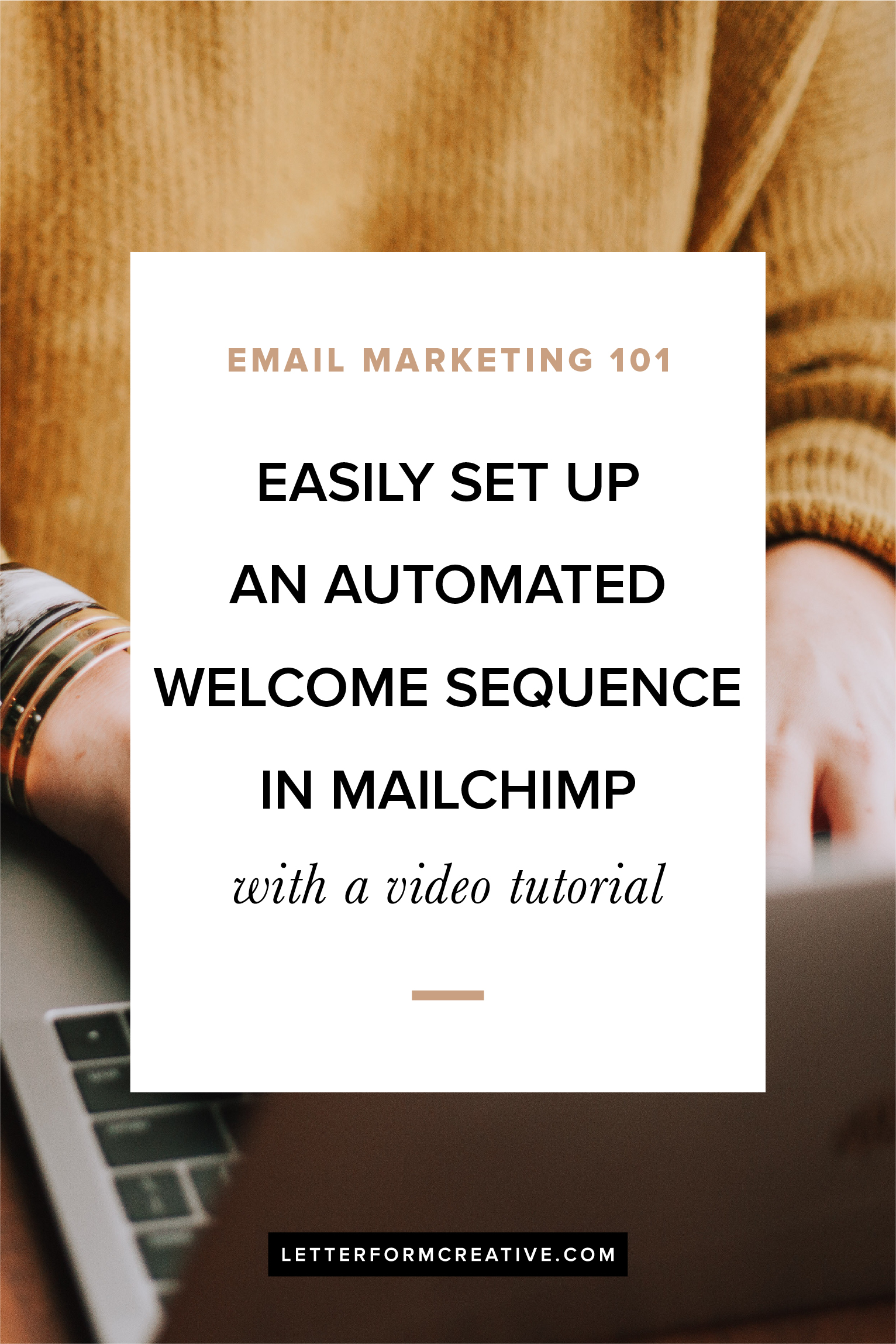 Wondering how to get started with email marketing for your small business? One of the first things you need to do is set up an automated welcome sequence for new subscribers to your list. Click through for an outline of what should be in each of your welcome emails, as well as a video tutorial showing you how to set it up in Mailchimp!