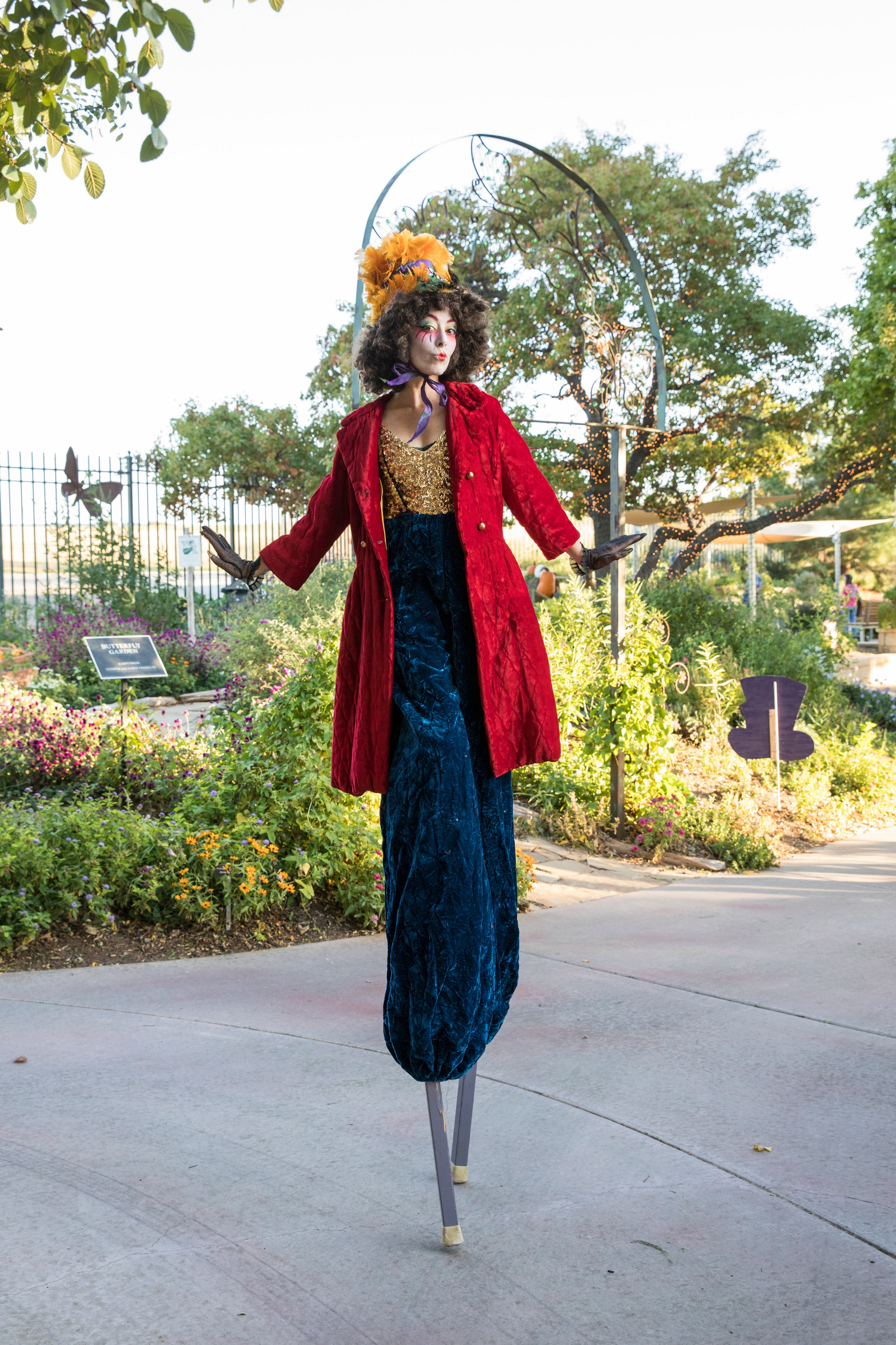 Entertainment at the Mad Hatter's Ball at Amarillo Botanical Gardens, photographed by jenny Edwards Photo