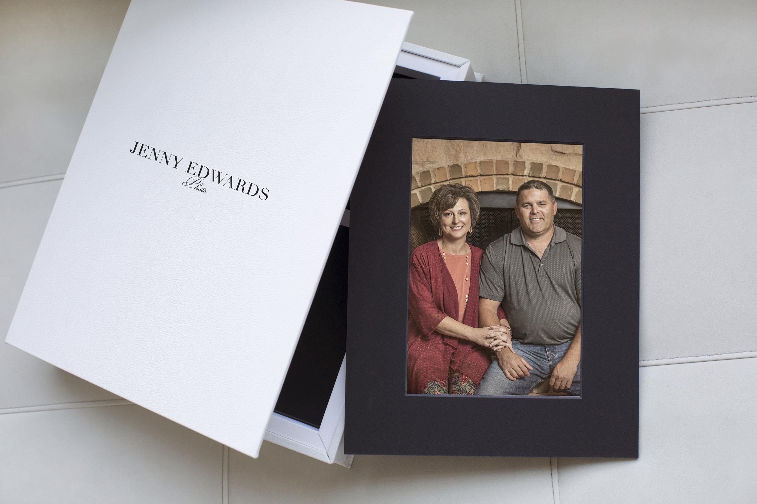 fabulous italian leather covers this portfolio box holding photos from amarillo photography studio jenny edwards photo