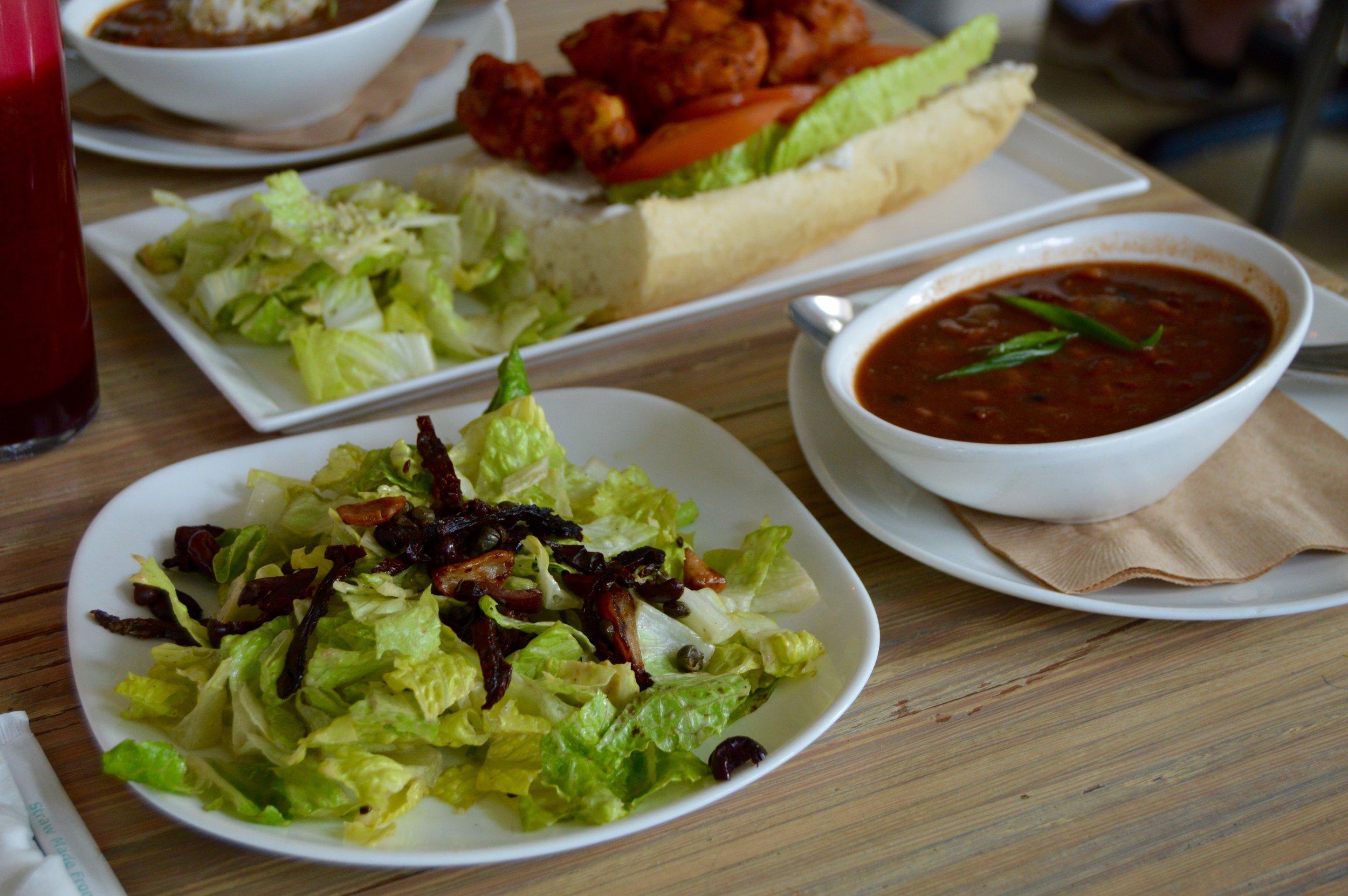 Seed Caesar & Three Bean Chili