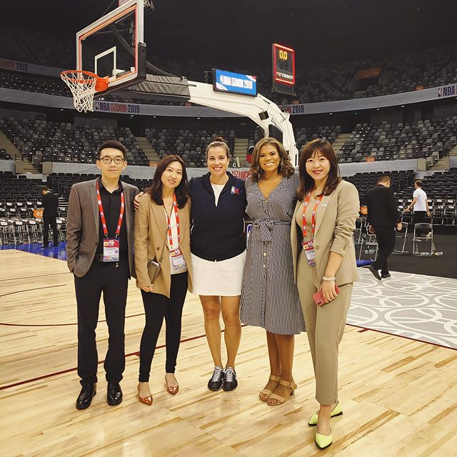 Special shoutout to this crew for overcoming unimaginable obstacles. Such a pleasure working with the amazing people from our China team! There's no challenge we couldn't handle! #NBAChinaGames