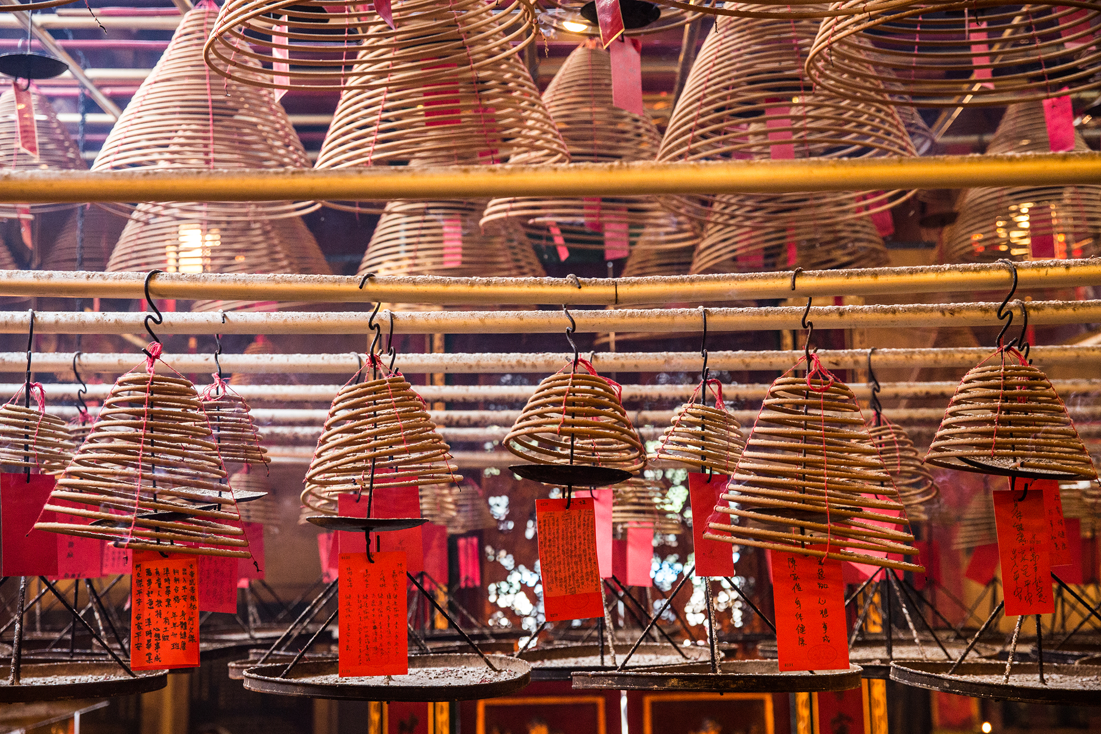 Incense coils at Man Mo Temple.
