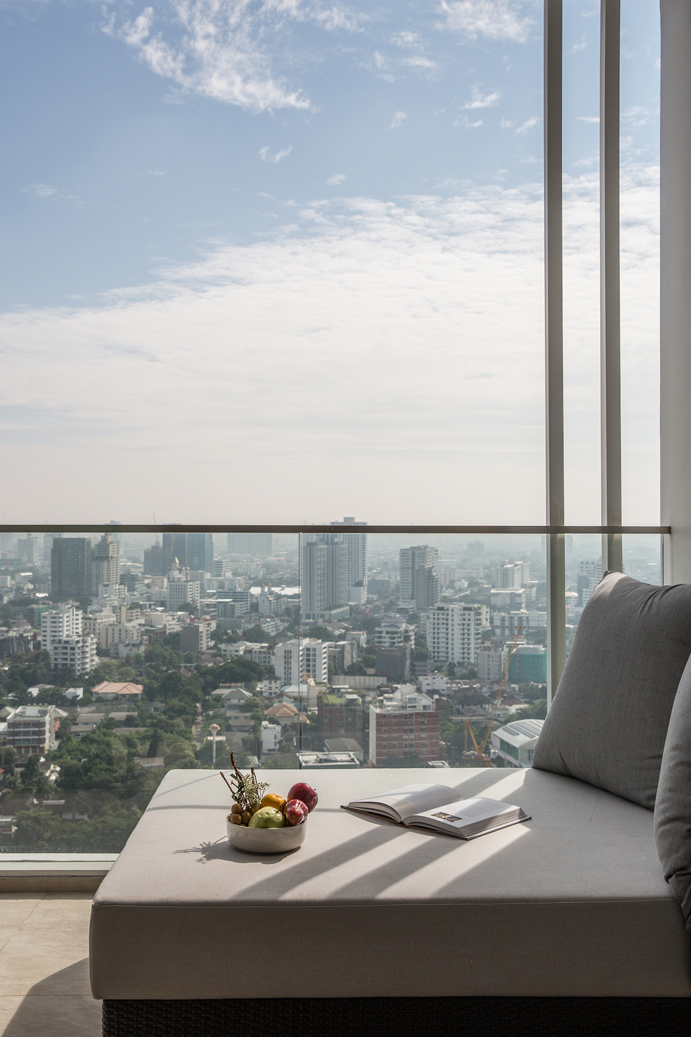 Balcony view from one of the rooms at 137 Pillars Bangkok.
