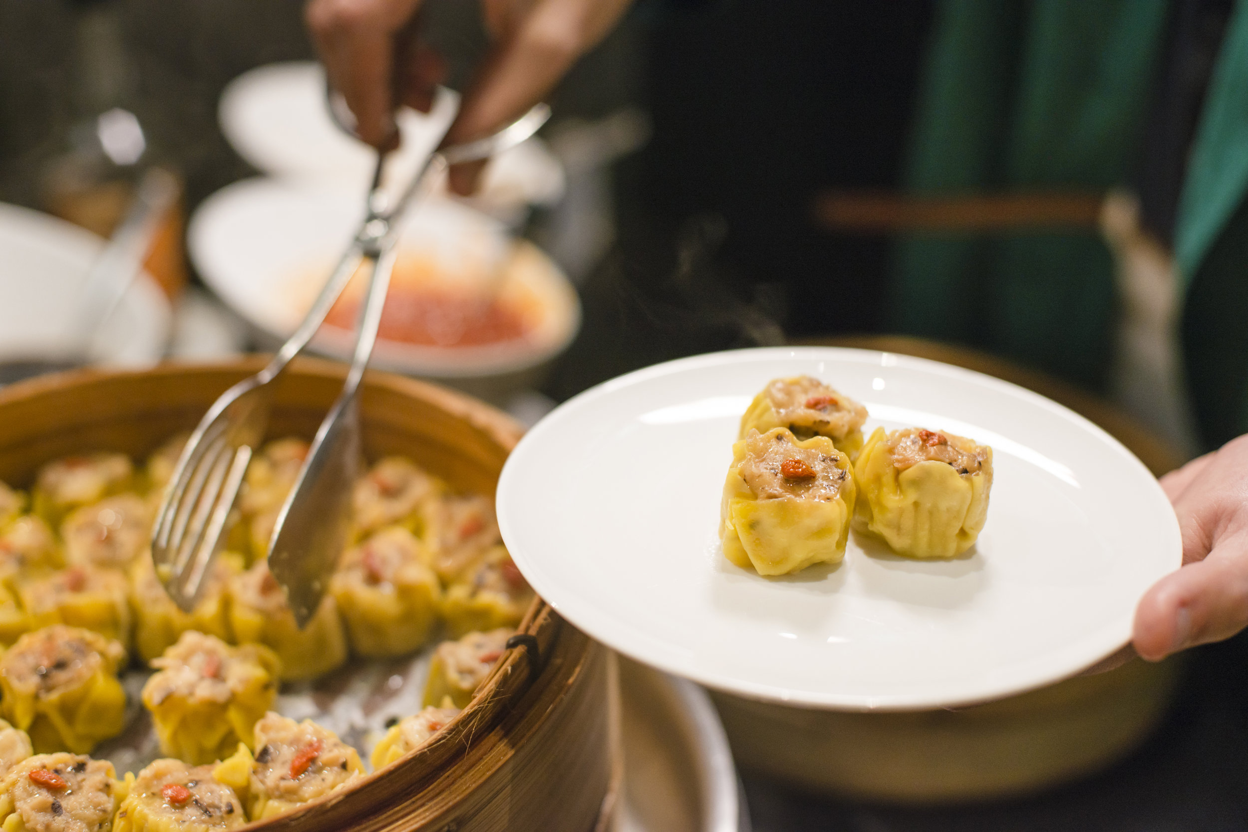 Some of Hong Kong's most delicate dumplings at The Bistro in The Bridge Lounge.