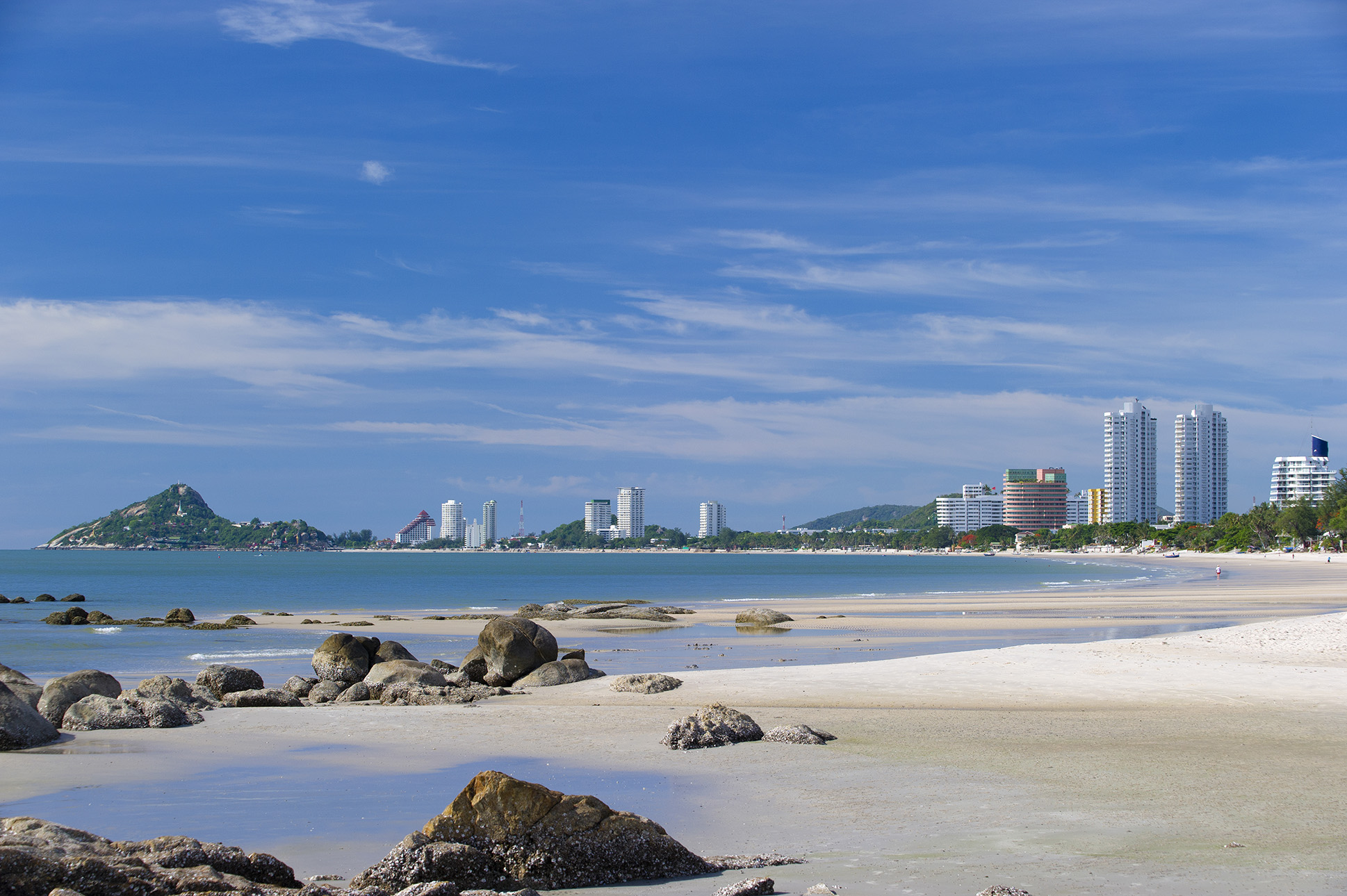 The pristine beaches of Hua Hin.