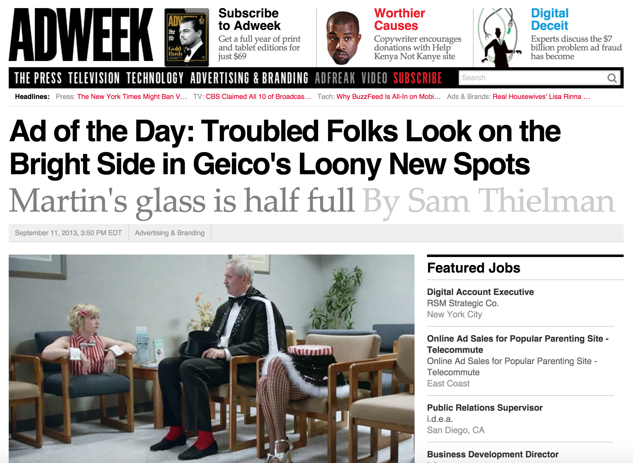 Troubled Folks Look on the Bright Side in Geico's Loony New Spots