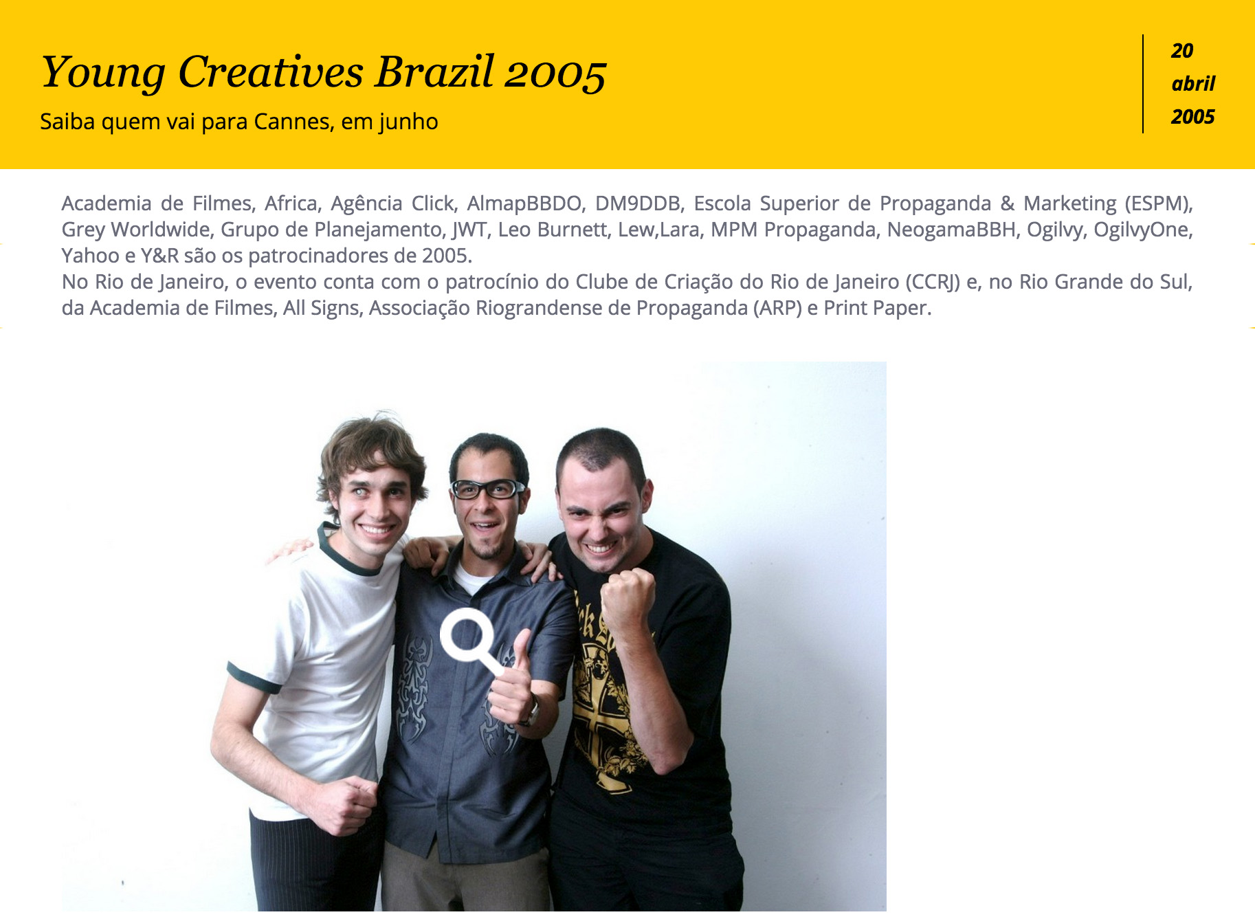 Young Creatives Brazil 2005