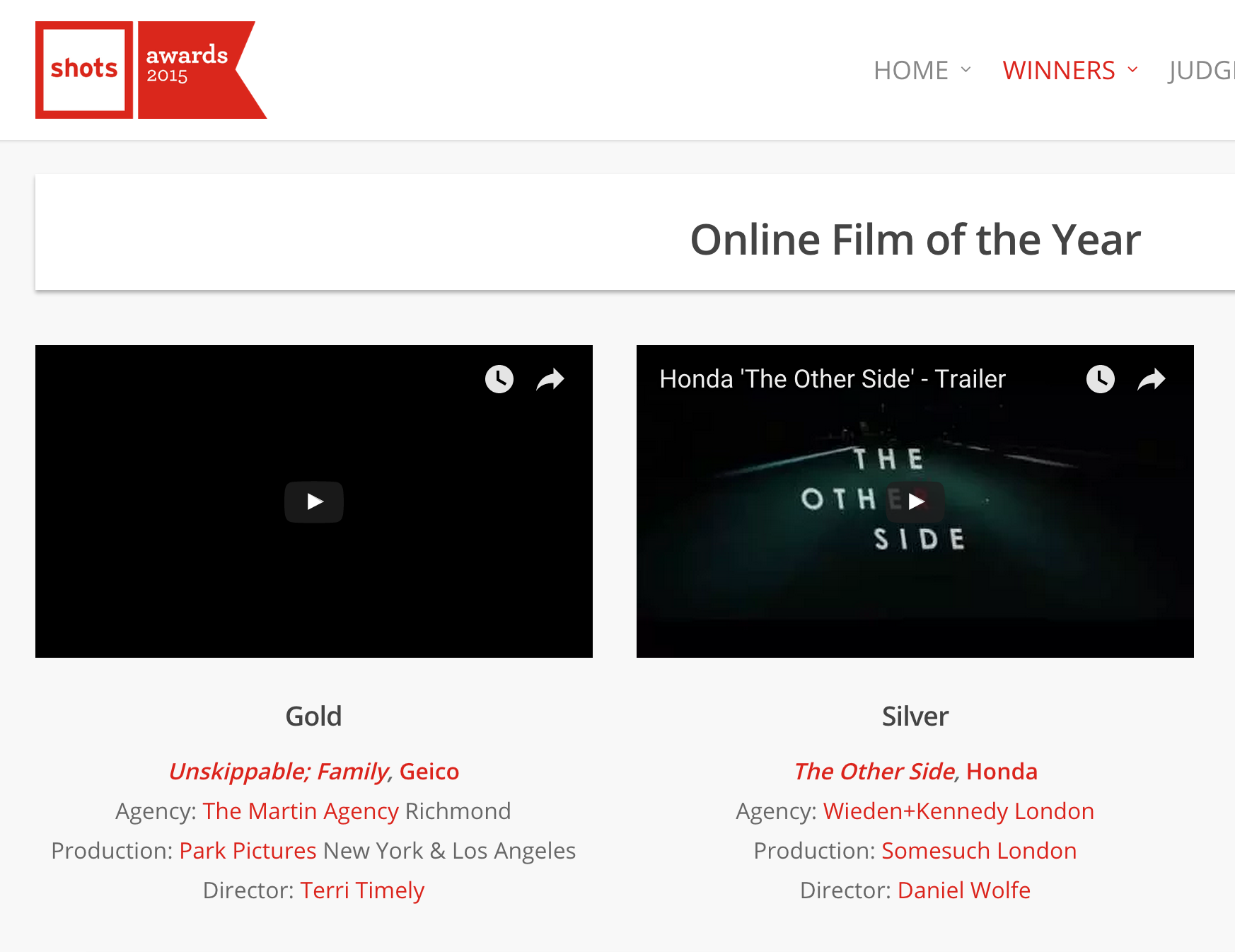 Unskippable is Online Film of the Year