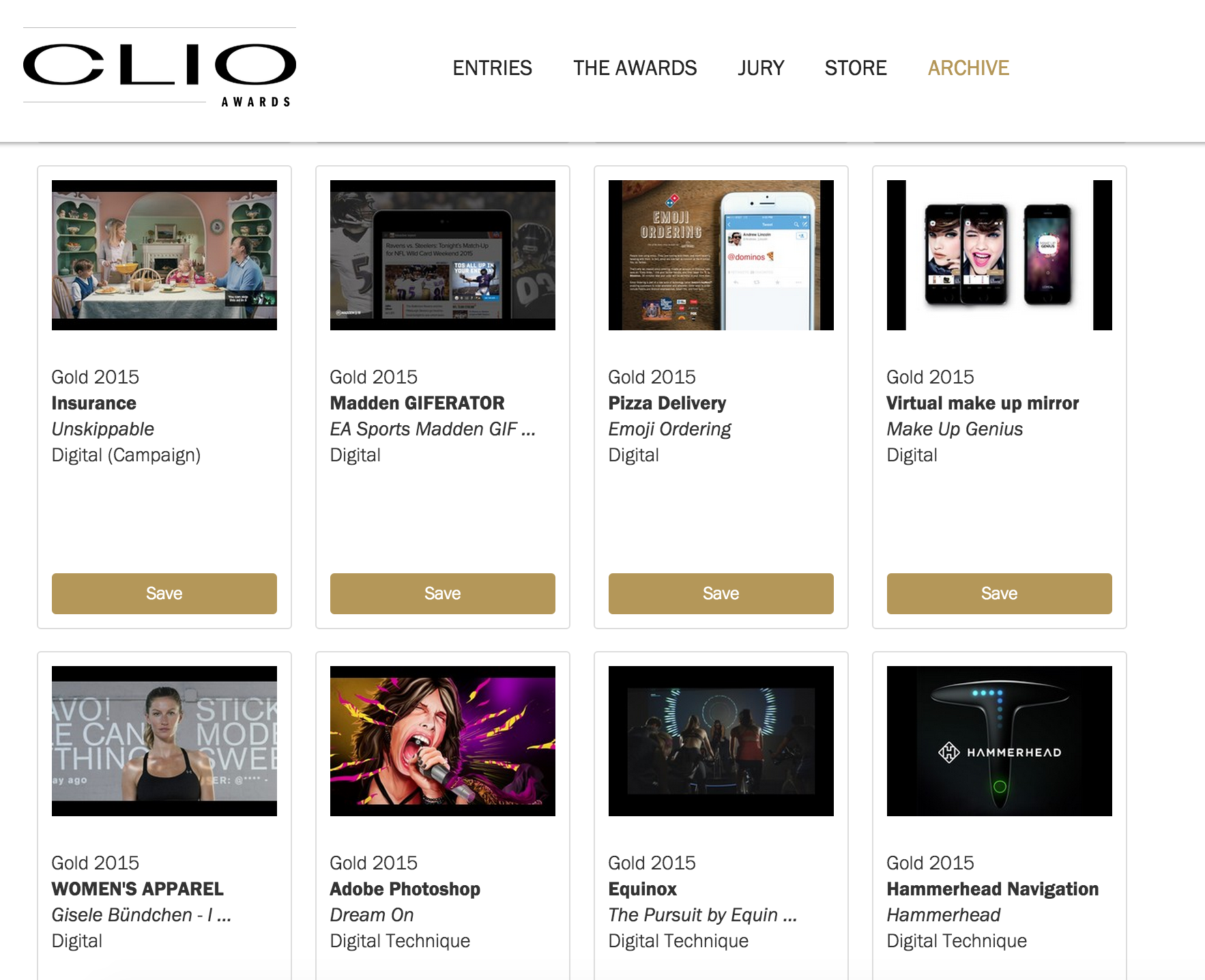 Unskippable wins 2 Gold Clios
