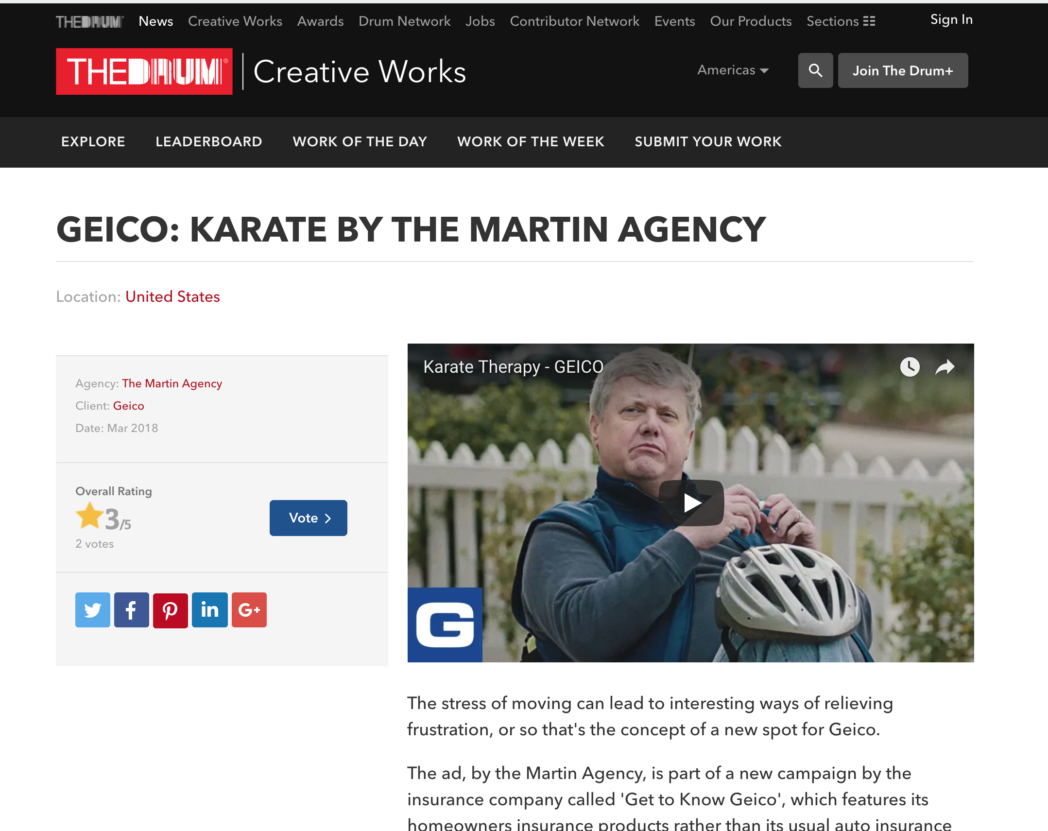 GEICO: Karate by The Martin Agency