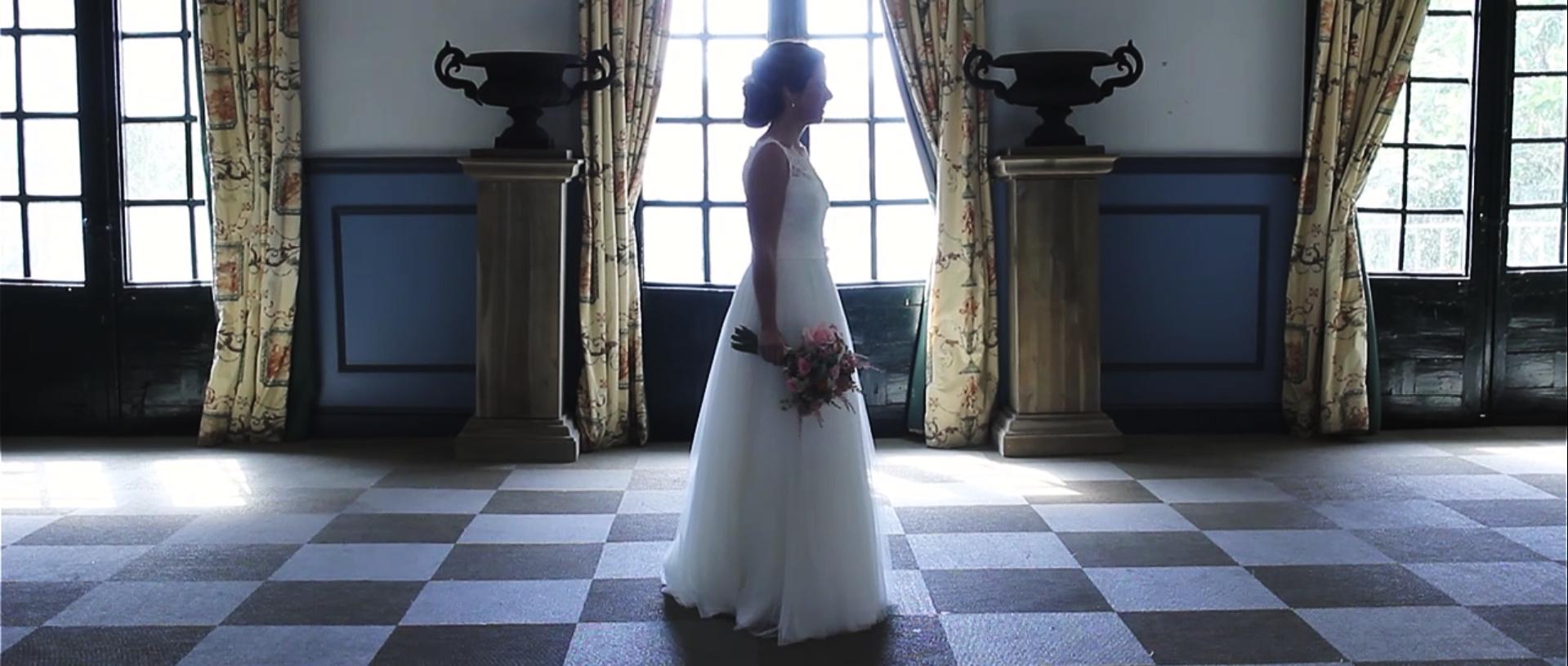 Fotograma de la bride session del video de boda de L+J