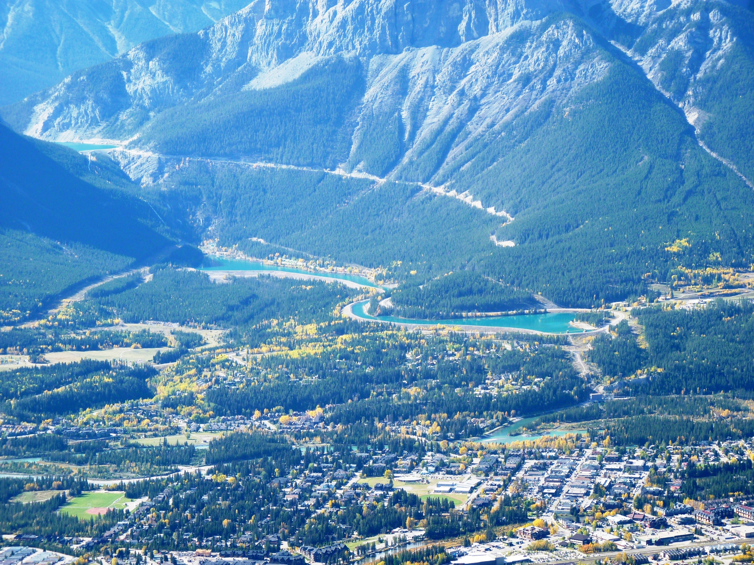 Canmore, and the Forebay reservoir